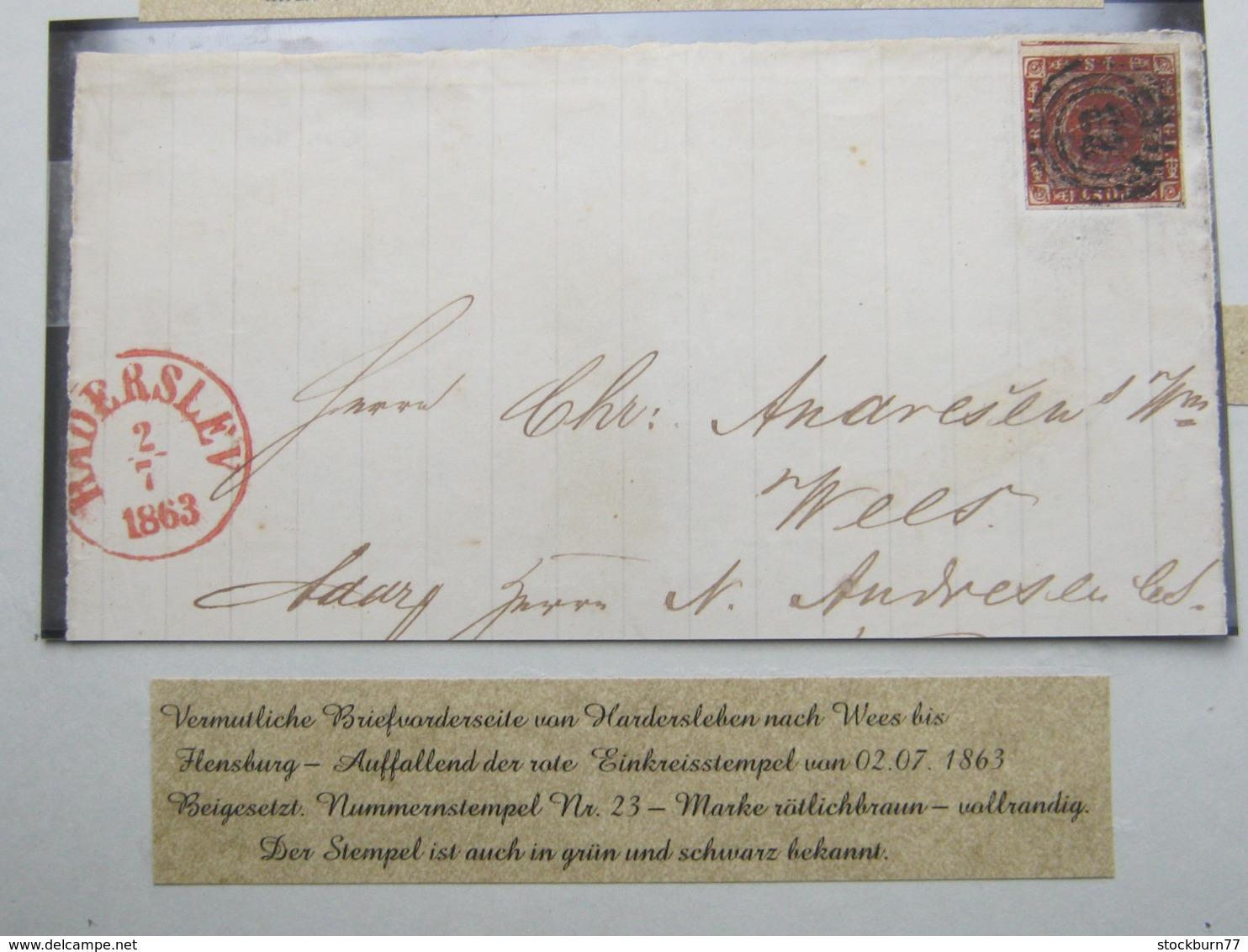 1863 , Brief Aus Hadersleben , Nr.Stempel 23 - 1851-63 (Frederik VII)