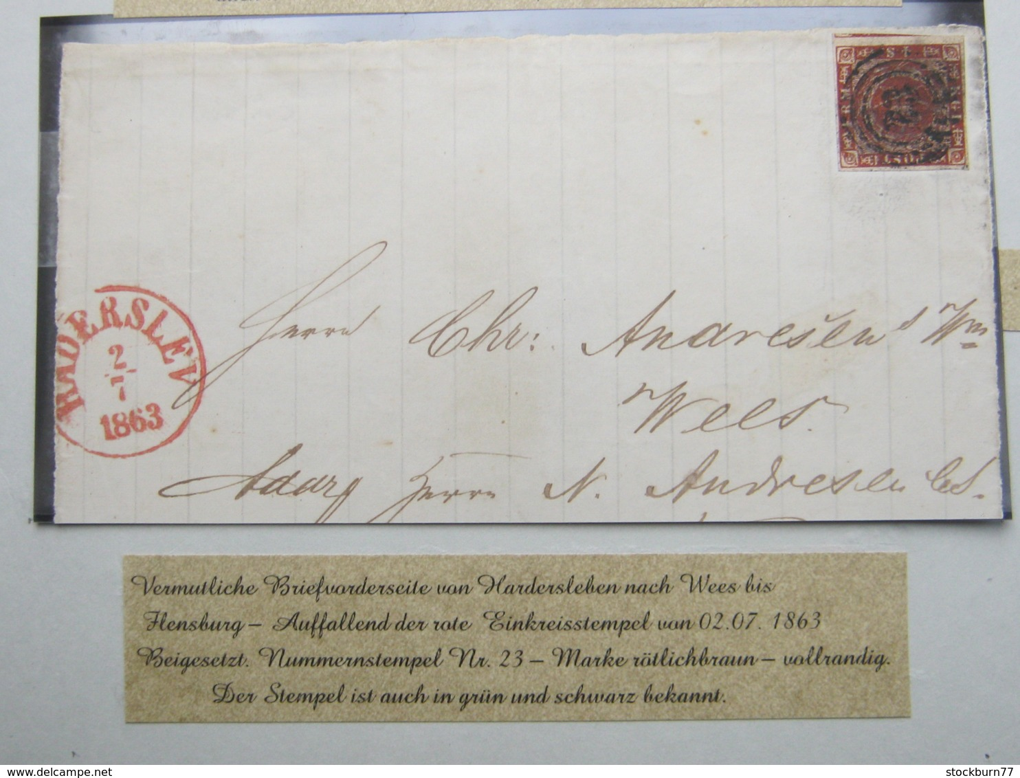 1863 , Brief Aus Hadersleben , Nr.Stempel 23 - Briefe U. Dokumente