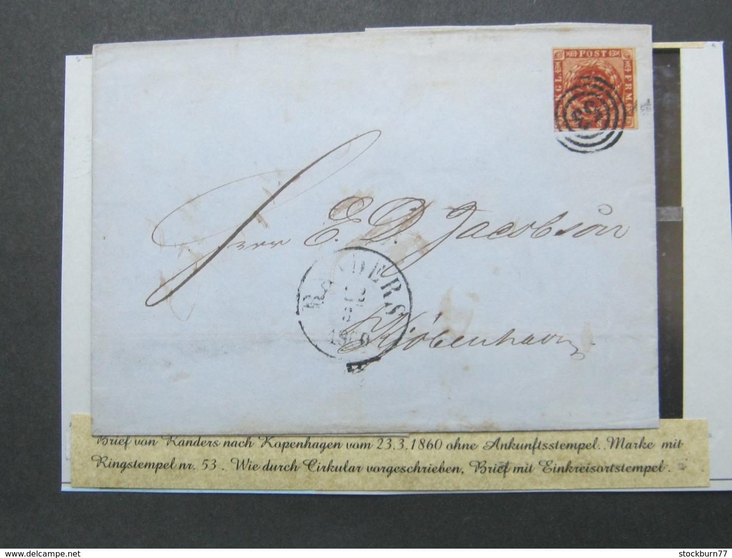 1860 , Brief Aus Randers , Nr.Stempel 53 - 1851-63 (Frederik VII)