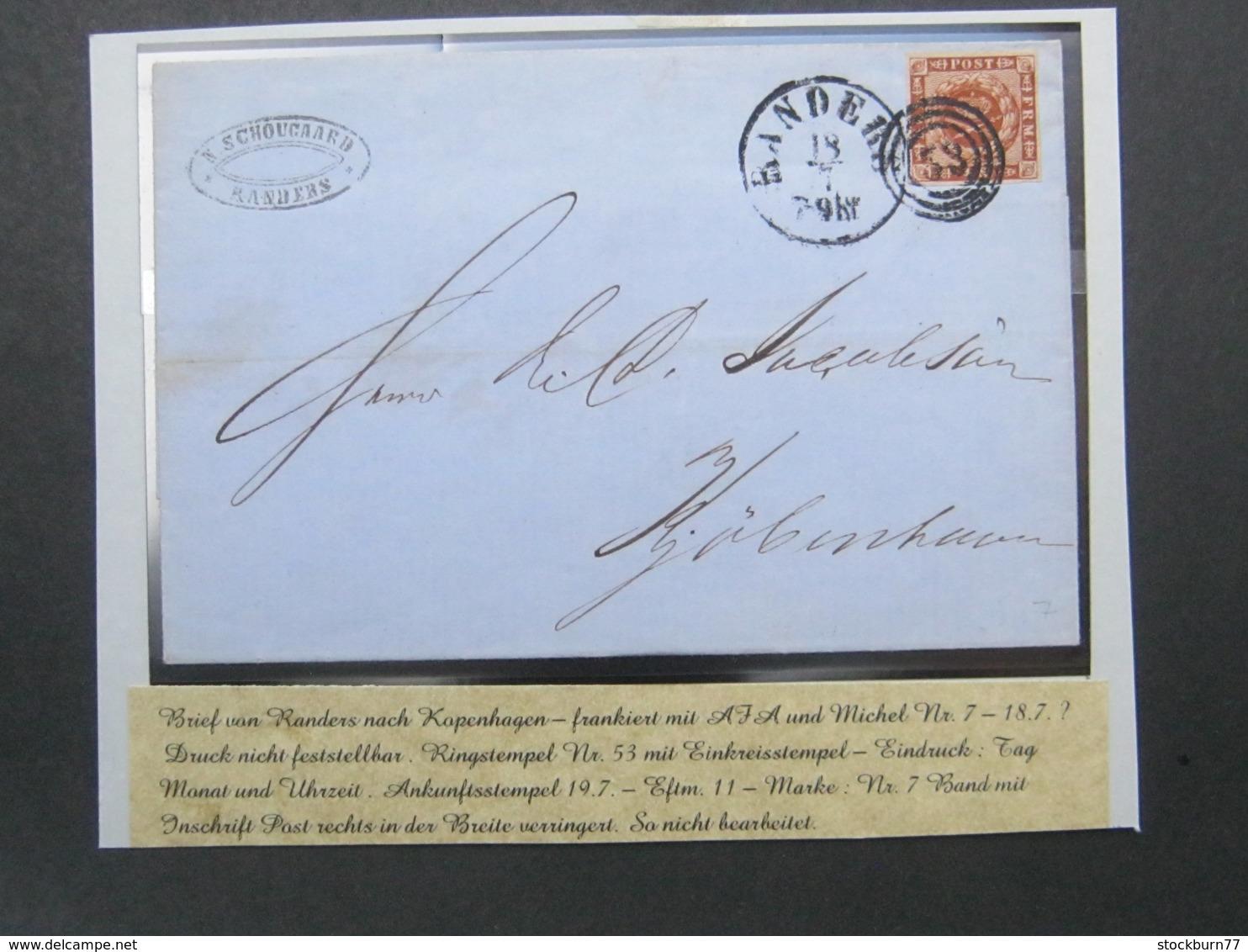 1860, Ca. , Brief Aus Randers , Nr.Stempel 53 - 1851-63 (Frederik VII)