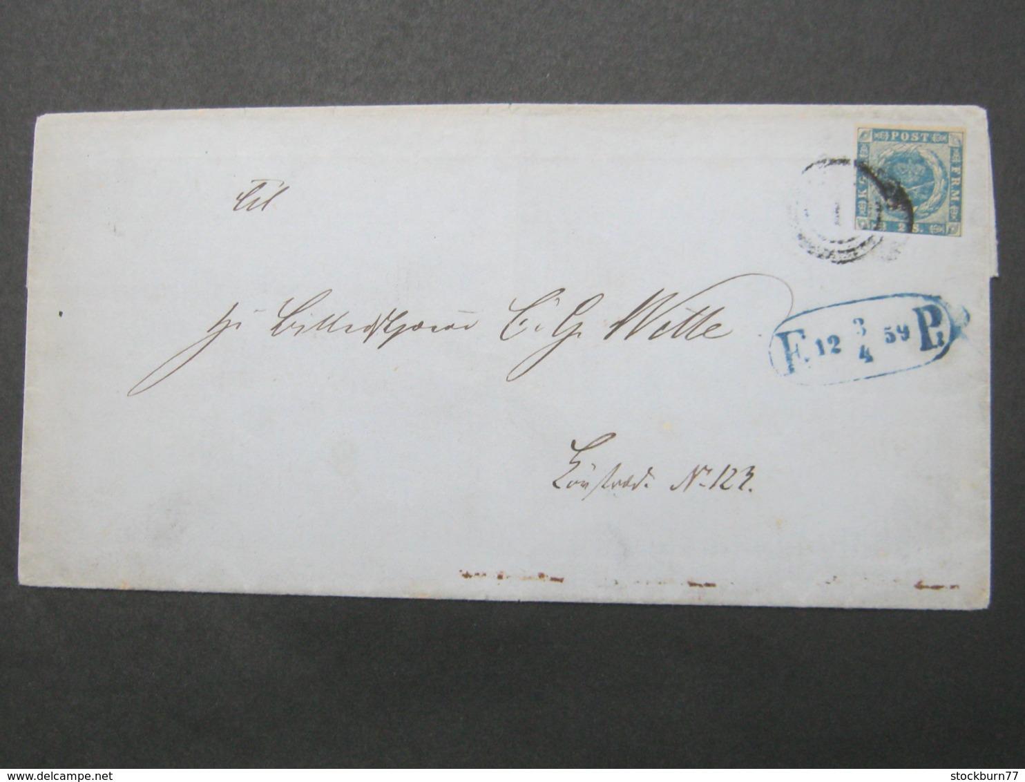 Brief Aus Kopenhagen Mit Landbriefträger Stempel - 1851-63 (Frederik VII)