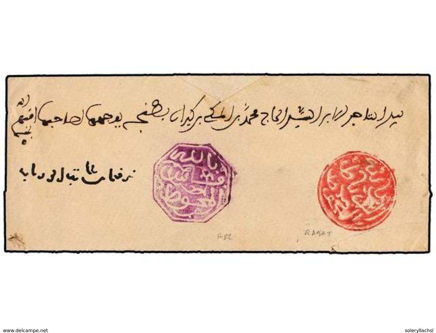 MARRUECOS. (1900 CA.). FEZ A RABAT. Envuelta Completa Con Marca Octogonal De FEZ En Violeta Y Circular De RABAT En Rojo. - Stamps