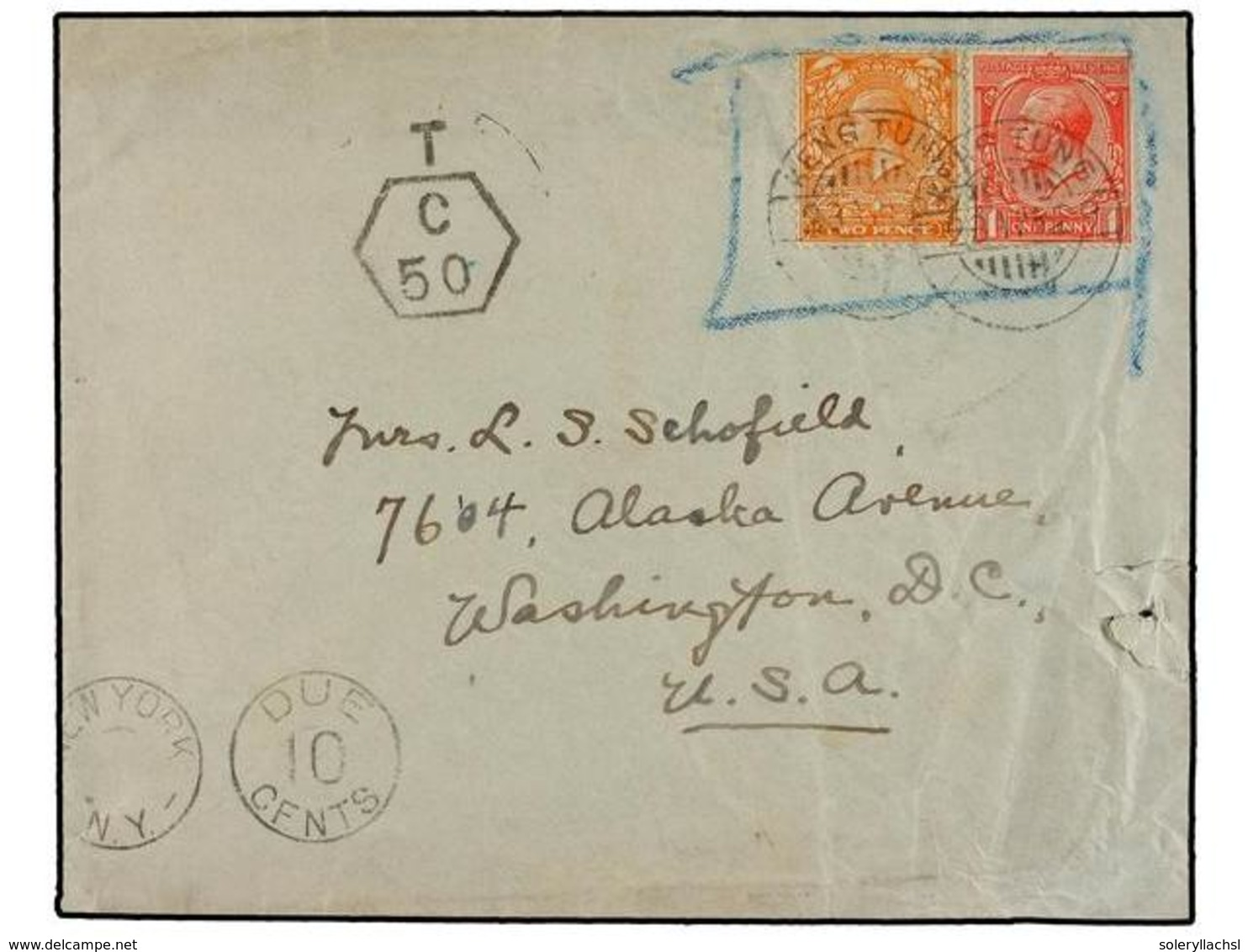 TAILANDIA. Sg.419, 421. 1929. CHIENGMAI To U.S.A. Envelope Written From 'The Prince Royal College, Chiengmai, Siam, Addr - Stamps