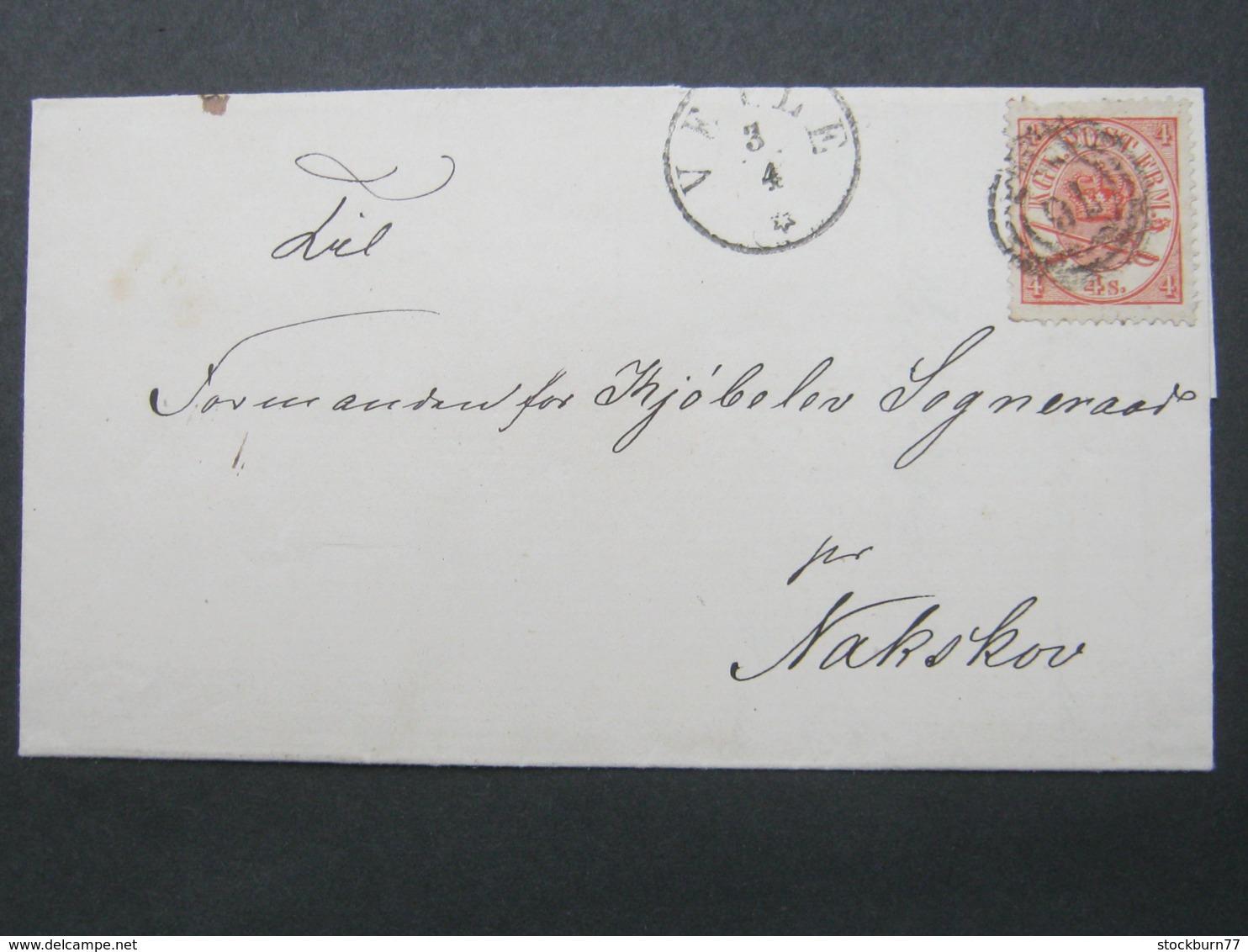 1869 , Brief Aus VEIJE - 1864-04 (Christian IX)