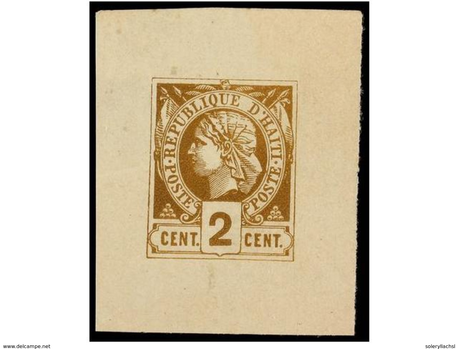 (*) HAITI. Sc.2. 1881. ENSAYO DE COLOR. 2 Cts. Bistre. - Stamps