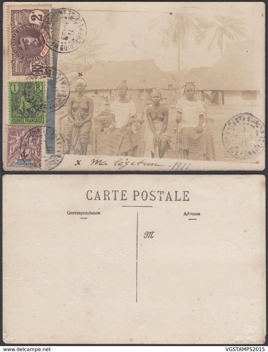 Colonies Françaises - Carte Photo Guinée  (5G) DC1183 - French Guinea (1892-1944)