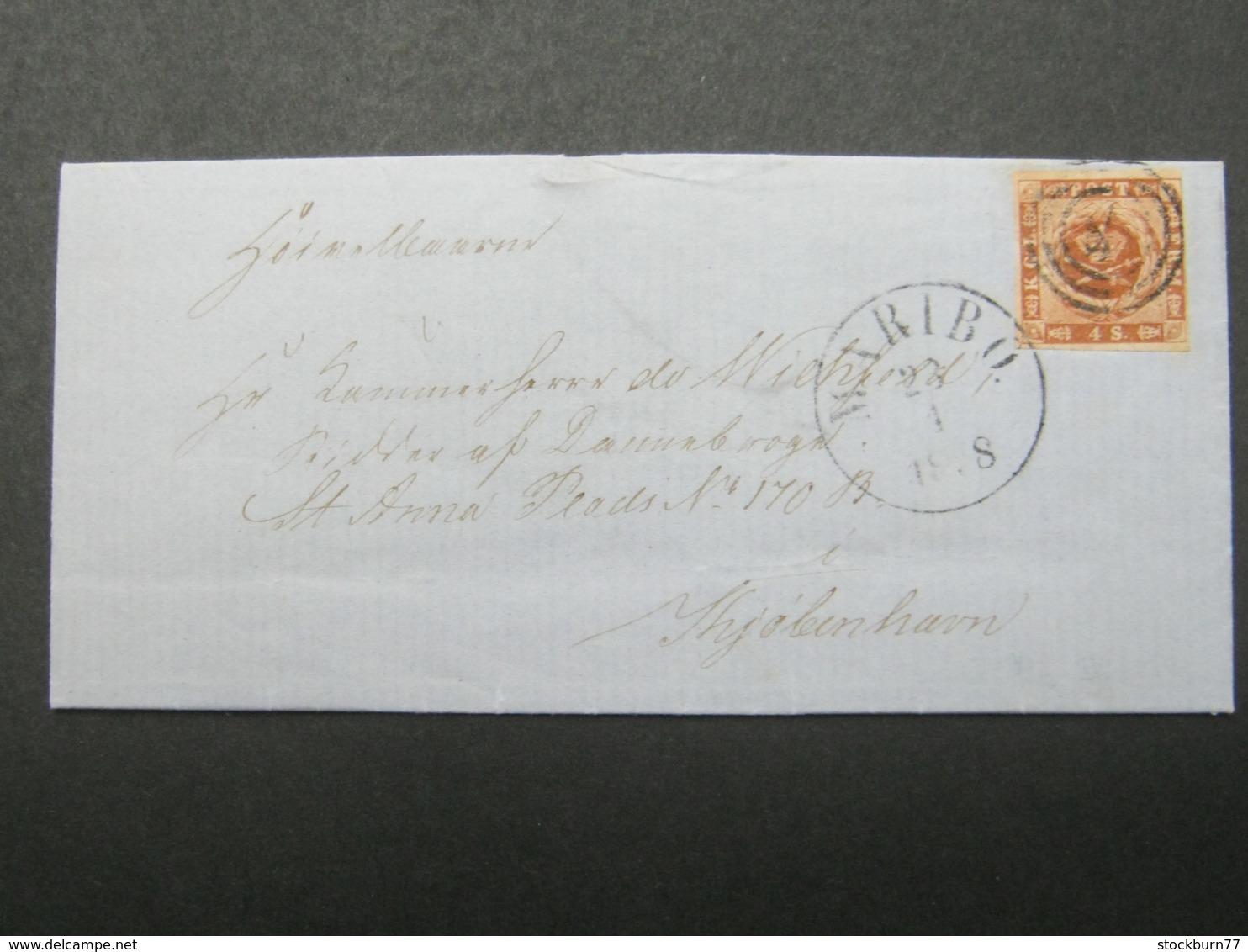 1878 , Brief  Mit Nummernstempel  Aus Maribo - Briefe U. Dokumente