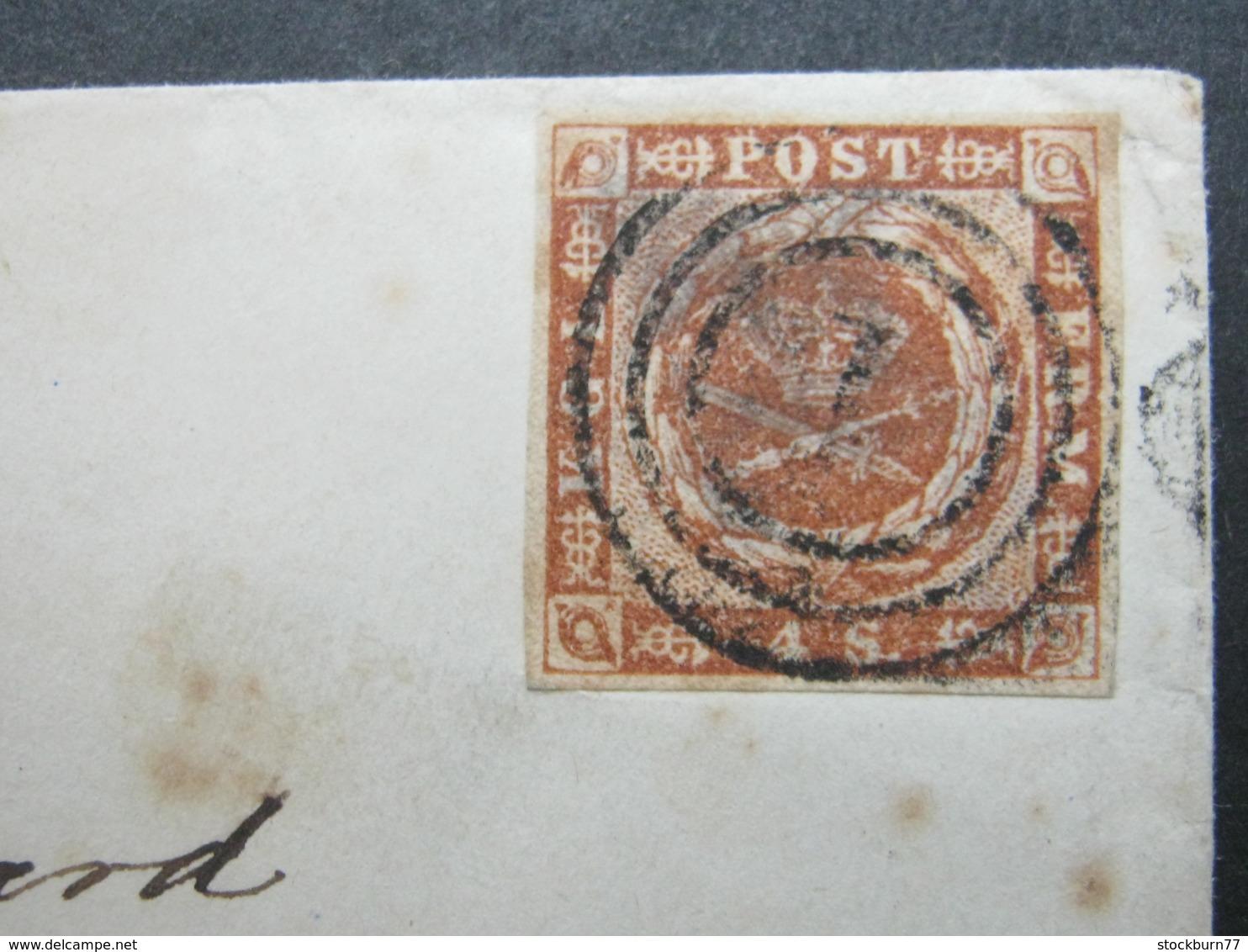 1856 , Brief  Mit Nummernstempel  Aus Kopenhagen - Briefe U. Dokumente
