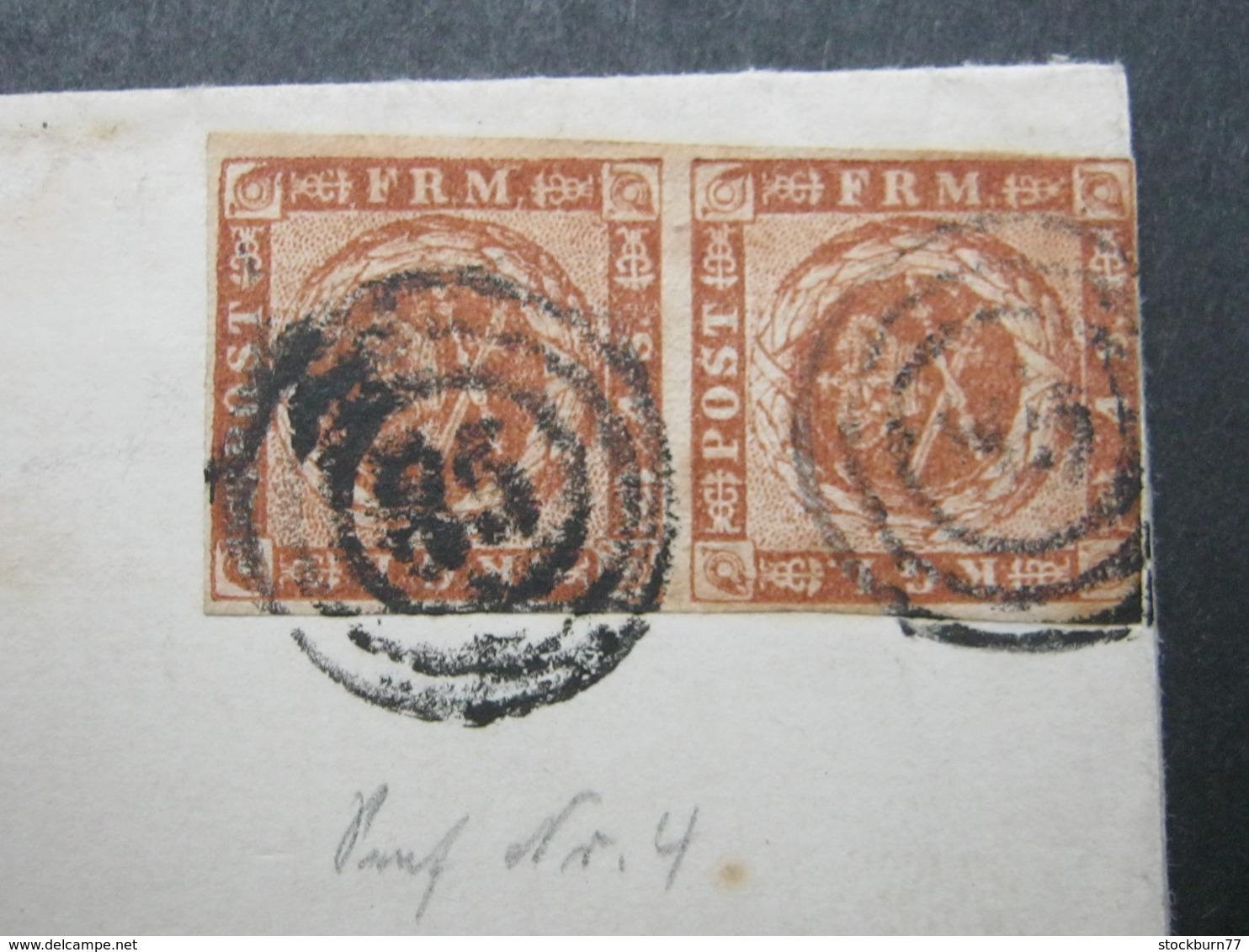 Brief  Mit Nummernstempel  Aus Hoyer , Pair - Briefe U. Dokumente