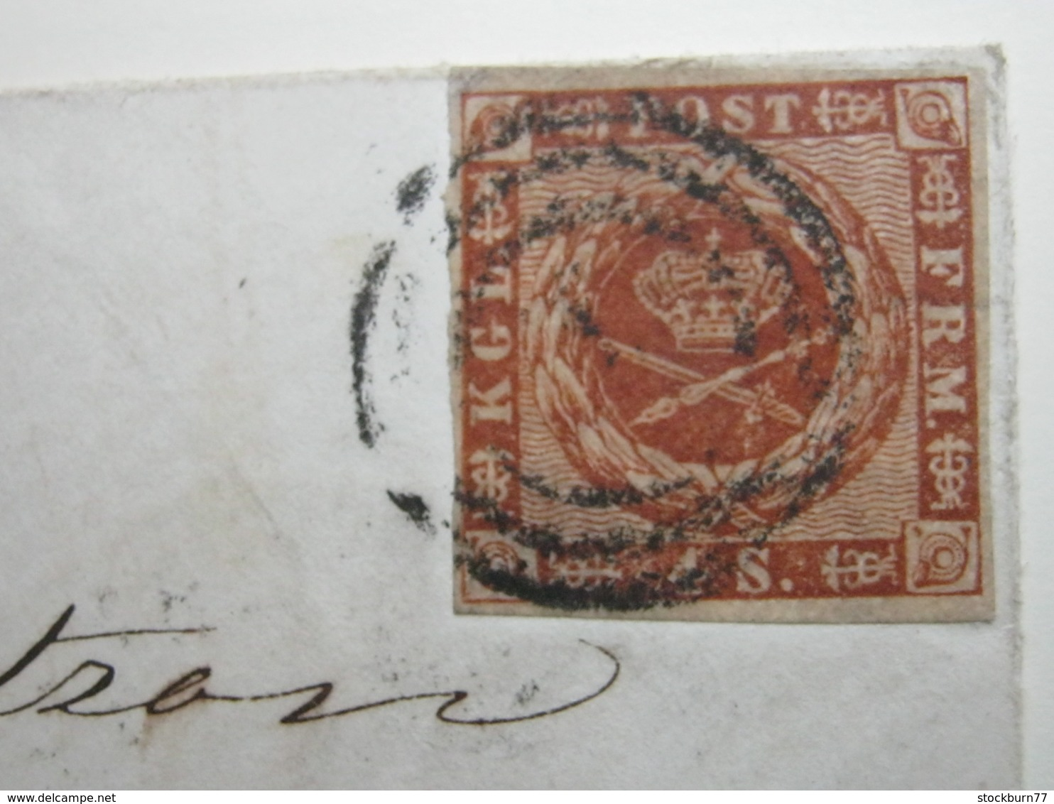 Brief  Mit Nummernstempel  Aus Kopenhagen - Briefe U. Dokumente