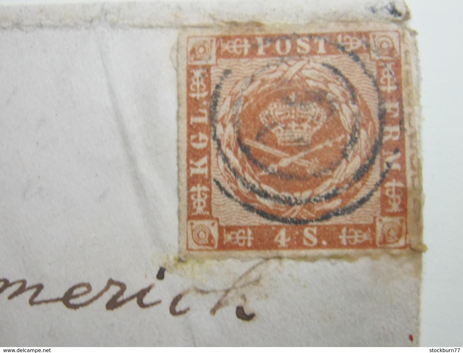 Brief  Mit Nummernstempel - 1851-63 (Frederik VII)