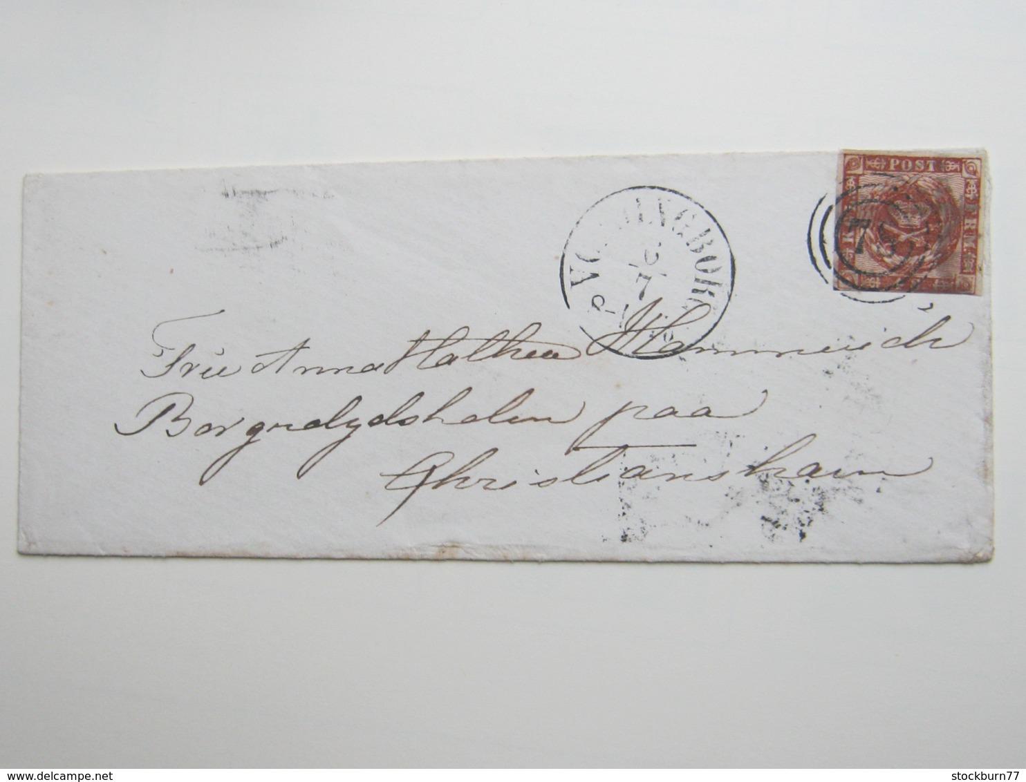 Brief  Mit Nummernstempel  78 - 1851-63 (Frederik VII)