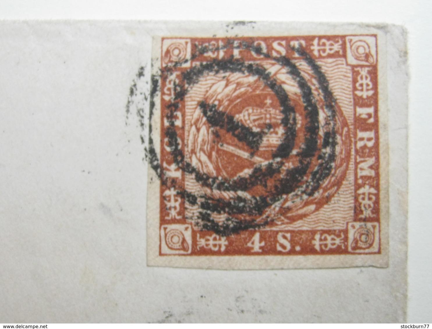 Brief  Mit Nummernstempel 1 - 1851-63 (Frederik VII)