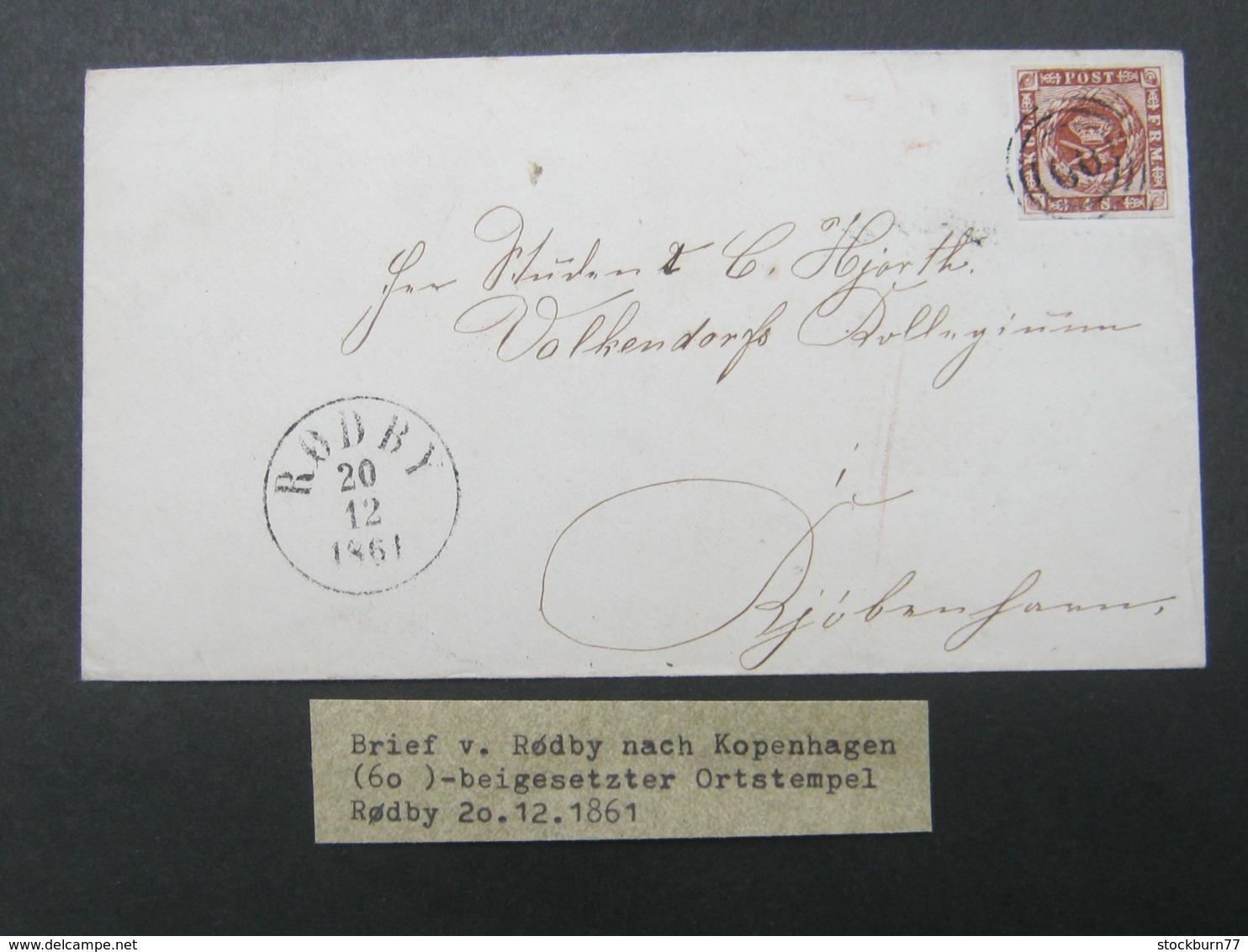 1861 , Brief  Mit  Stempel Aus RÖDBY - Briefe U. Dokumente