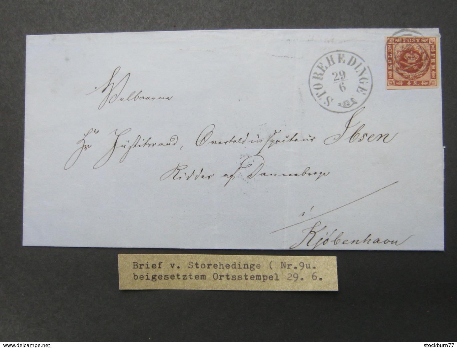Brief  Mit  Stempel Aus Storehedinge - Briefe U. Dokumente