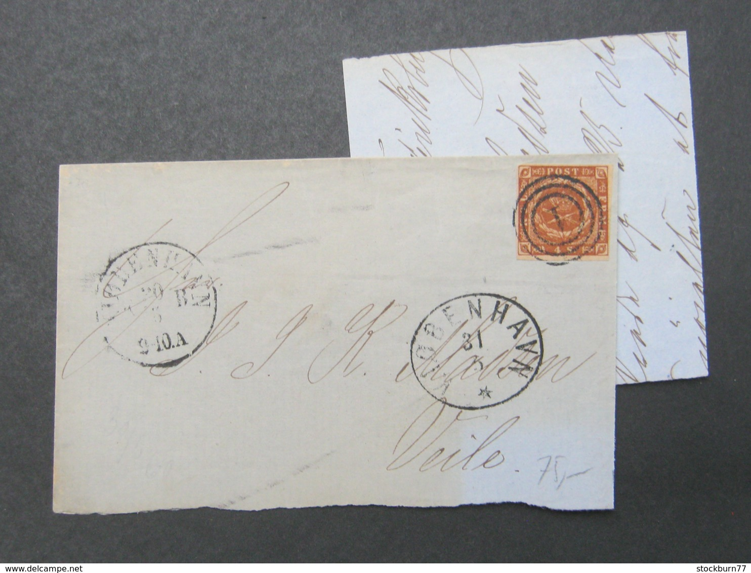 1860 , Brief  Mit  Stempel Aus Kopenhagen - Briefe U. Dokumente