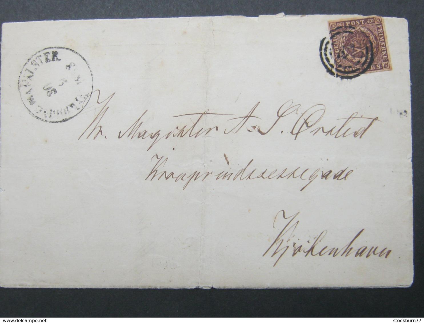 Brief  Mit  Stempel Aus Nyköbing - 1851-63 (Frederik VII)