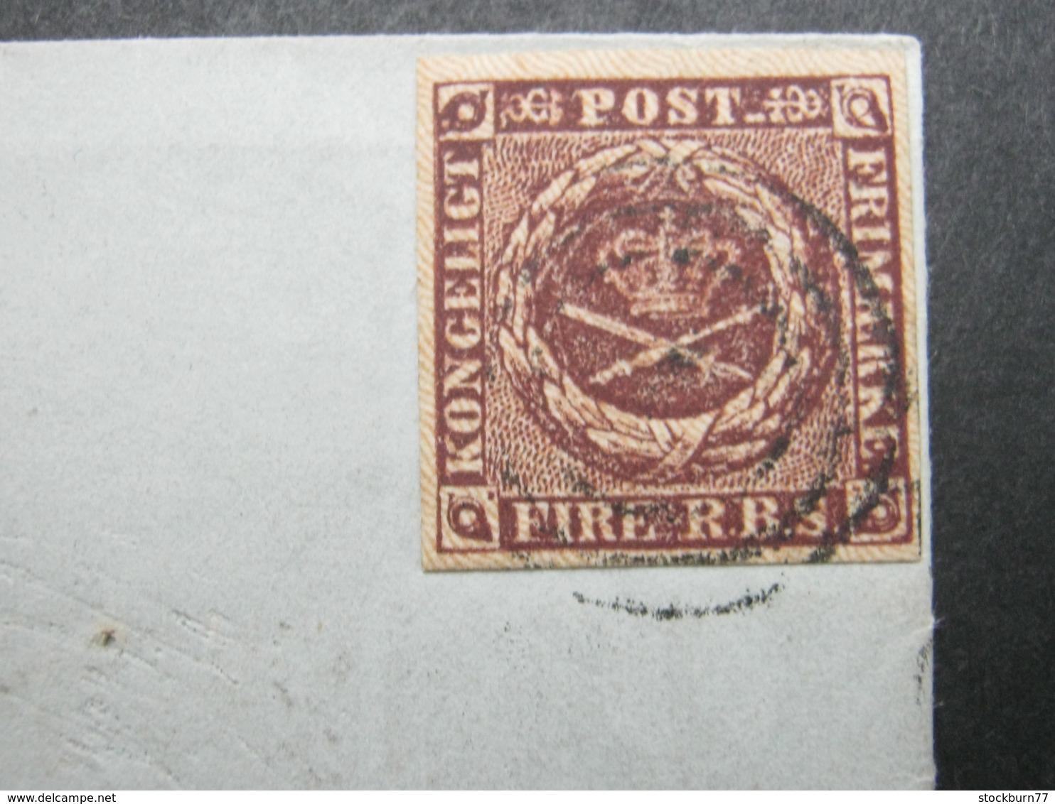 Brief  Mit  Stempel Aus Kopenhagen - 1851-63 (Frederik VII)