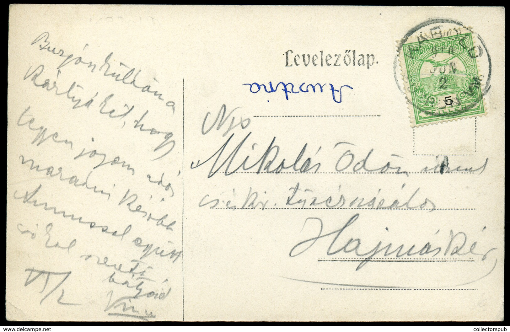 KABOLD / Kobersdorf 1908. Ritka, Régi Képeslap - Ungheria