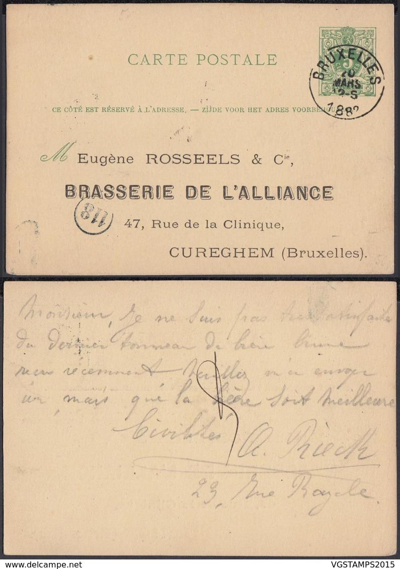 Belgique 1882 - EP - Thématique Brasserie (5G29834) DC1232 - Stamped Stationery