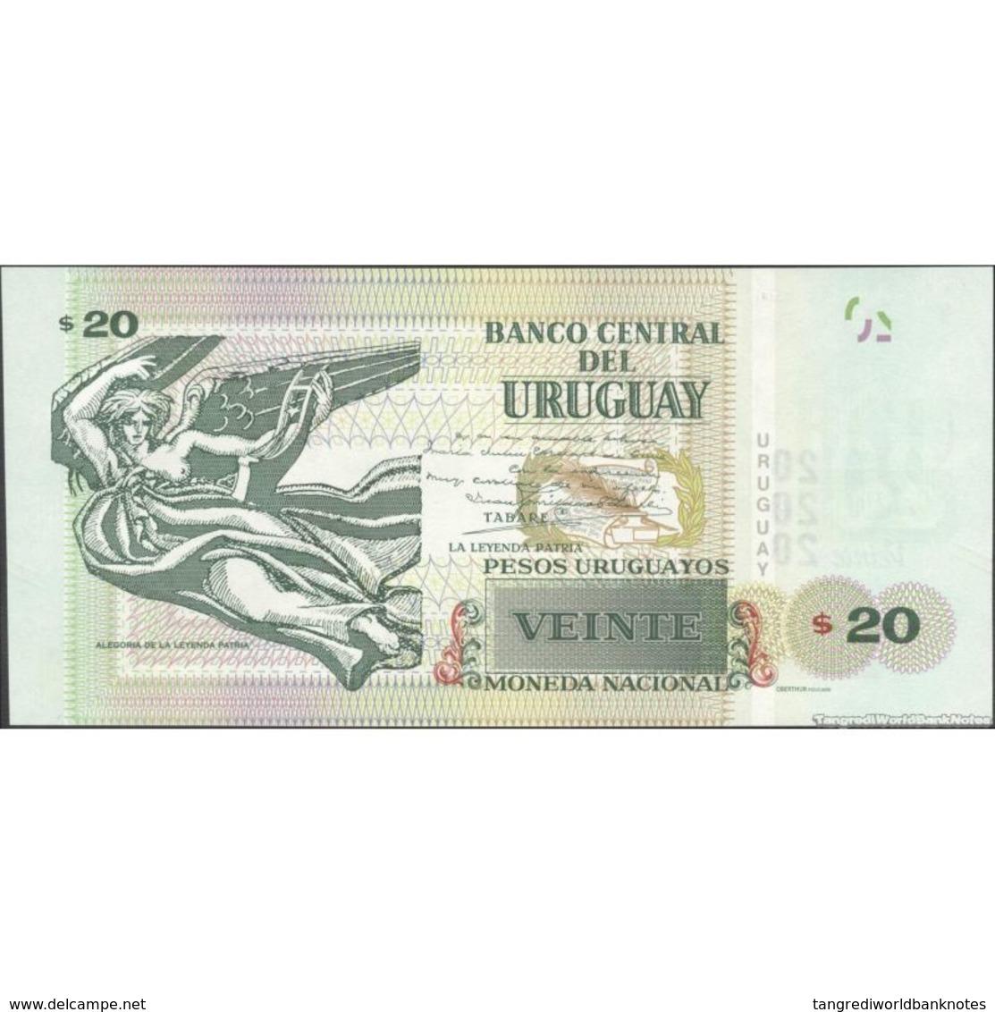 TWN - URUGUAY 93 - 20 Pesos Uruguayos 2015 (2017) Serie G UNC - Uruguay