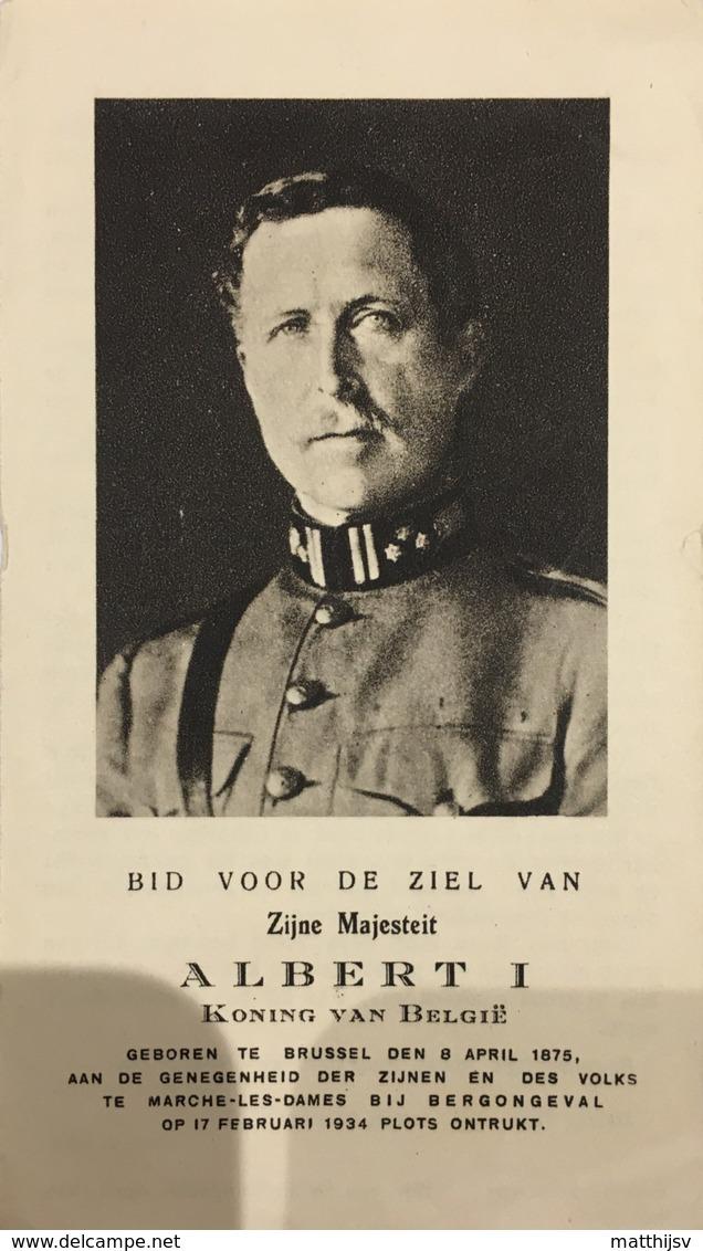 Doodsprentje / Image Mortuaire - Koning / Roi Albert I (Elisabeth) - Brussel - Marche-les-Dames 1934 (uitg Ath) - Religion & Esotericism