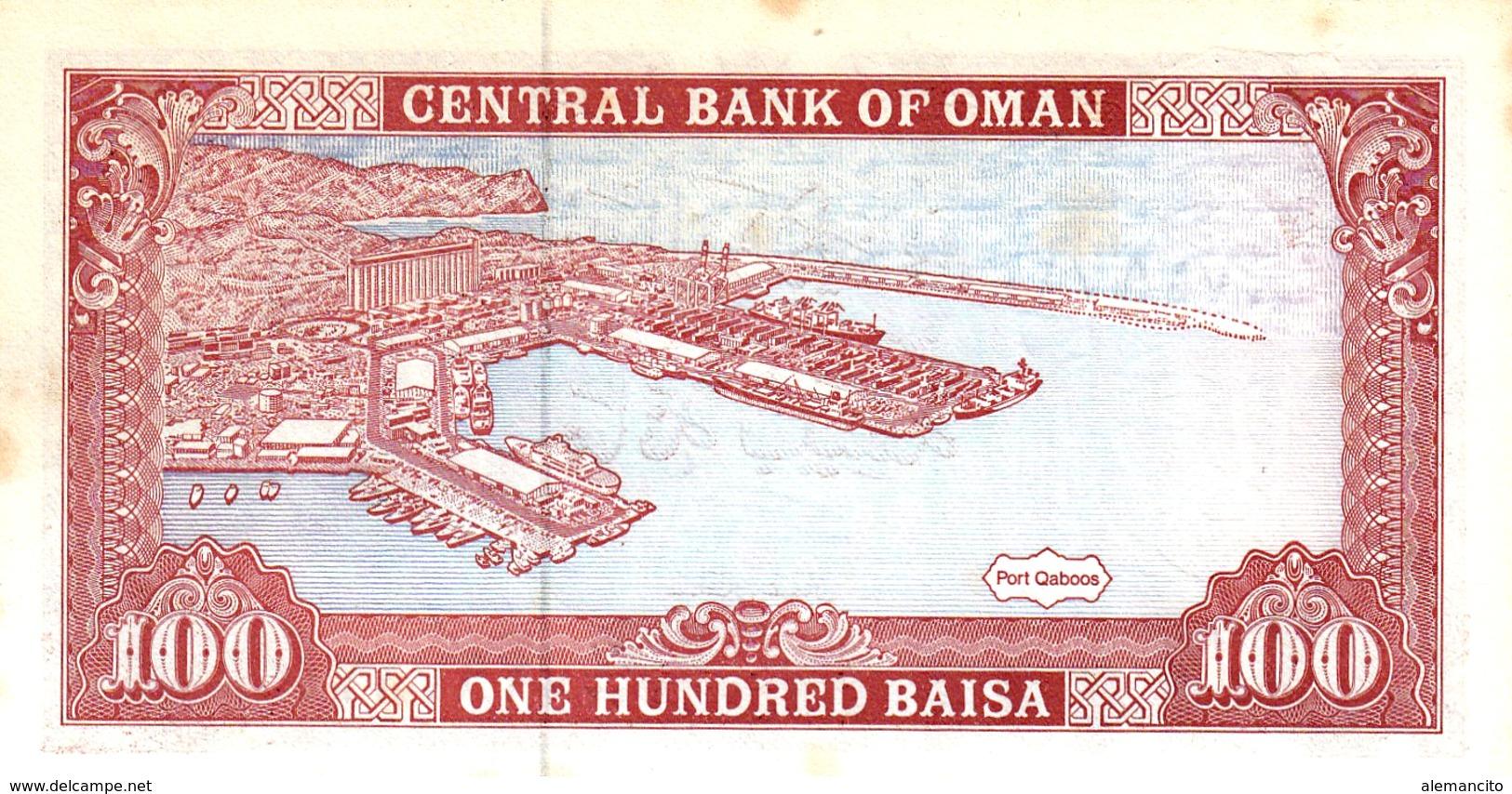 OMAN --  BILLETE DE OMAN 100 BAISA AÑO 1994 SIN CIRCULAR - Oman