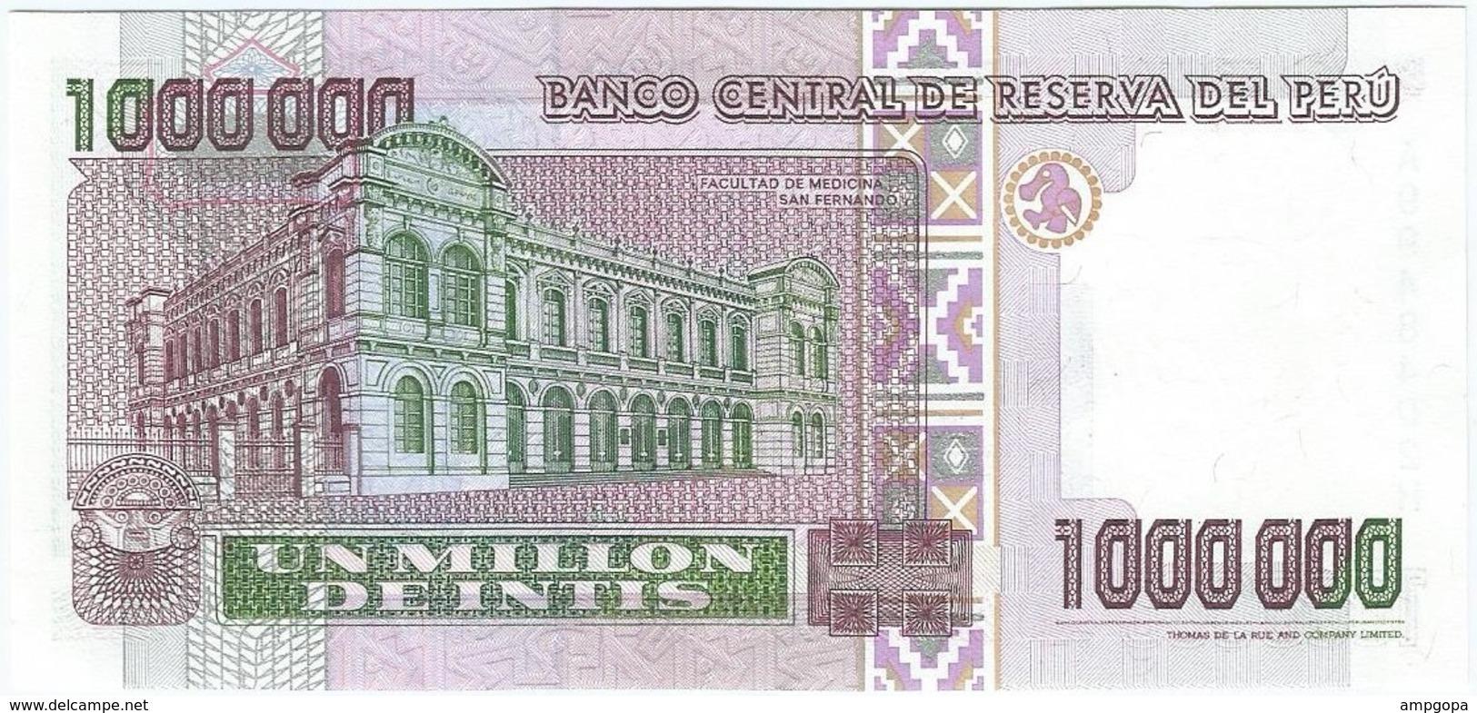 Perú 1.000.000 Intis 5-1-1990 Pick 148 UNC - Pérou