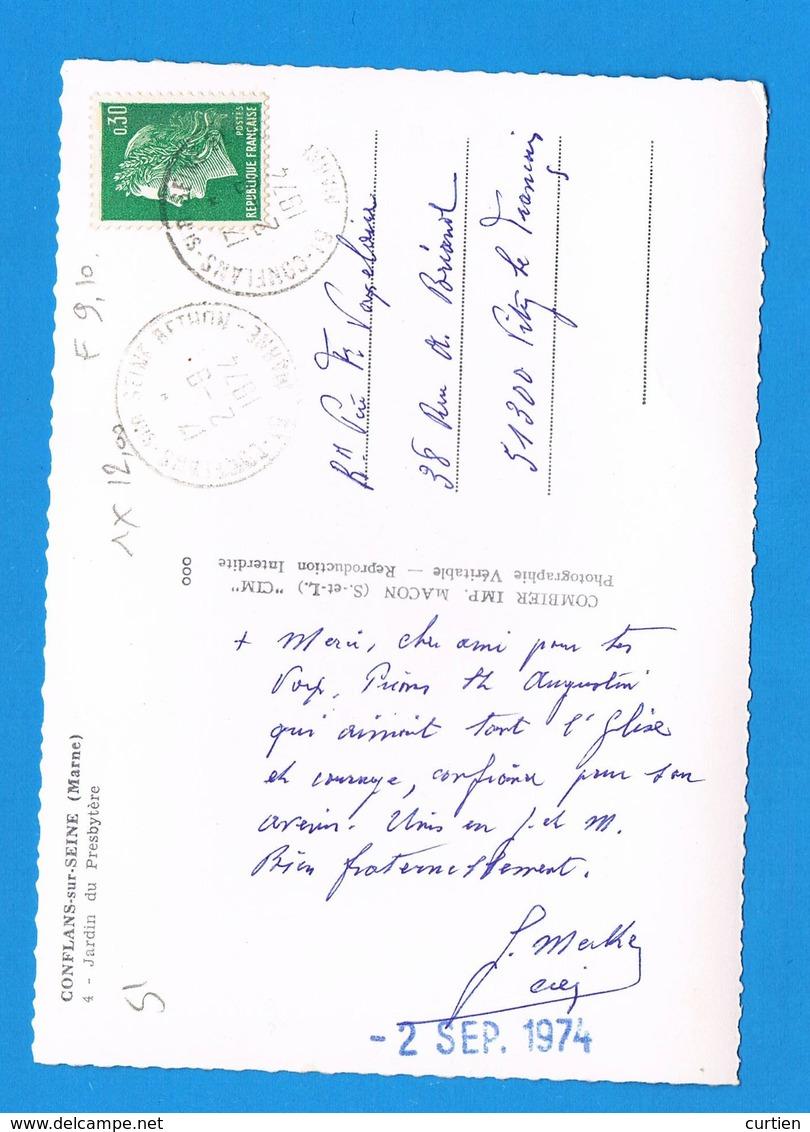 CONFLANS Sur SEINE  51  Jardin Du Presbytère En 1974 ( Voir Dos ) - France