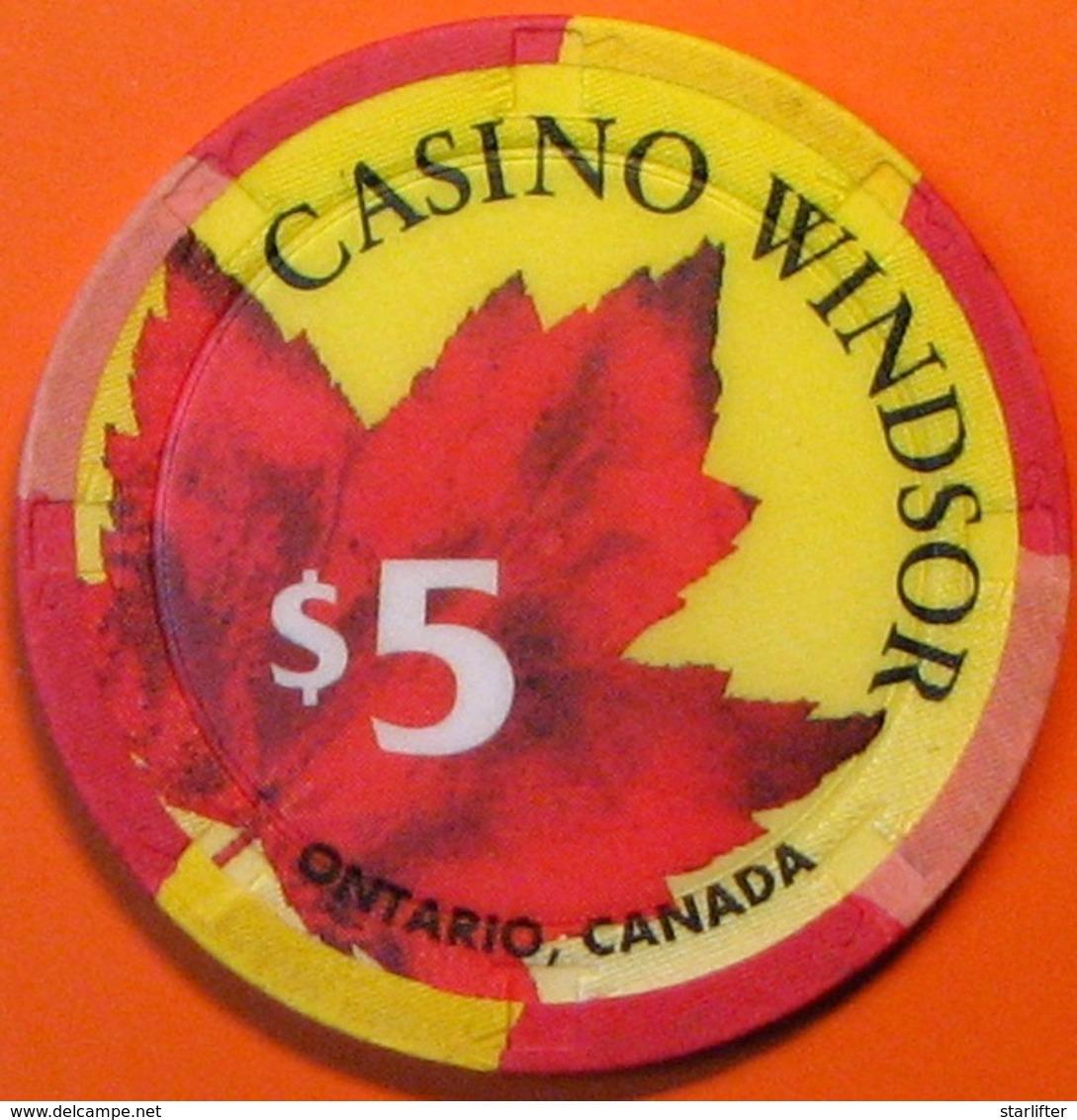 $5 Casino Chip. Casino Windsor, Ontario, Canada. M98. - Casino