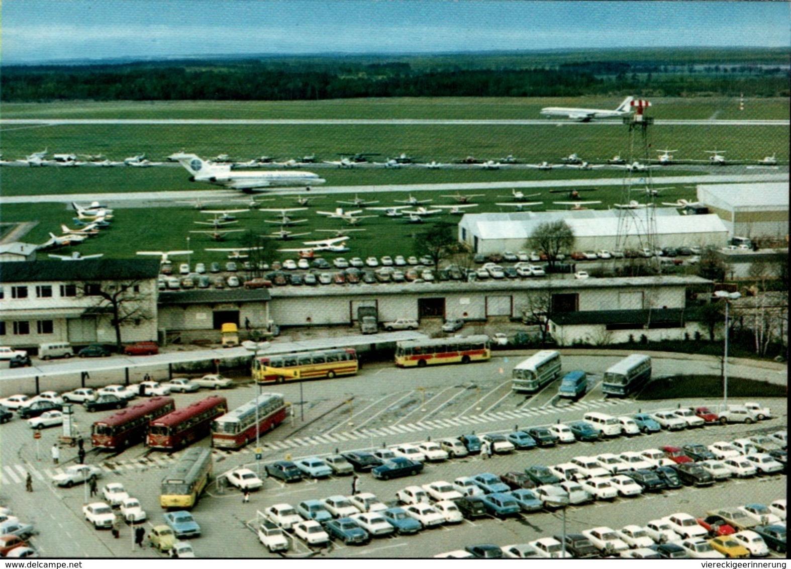! Moderne Ansichtskarte Flughafen Hannover, Flugzeuge, Pan Am, Autos, Cars - Aerodrome