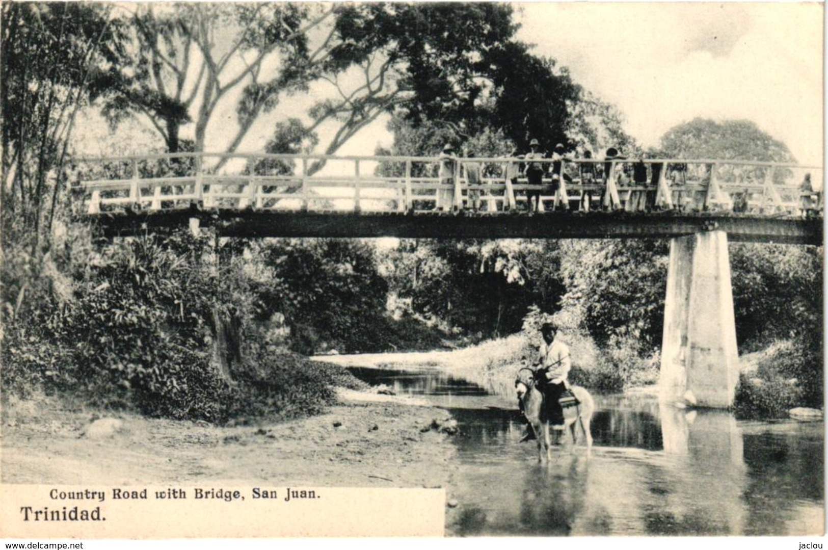 COUNTRY ROAD WITH BRIDGE ,SAN JUAN ,JOLI PLAN ANIME     REF 58333 C - Trinidad