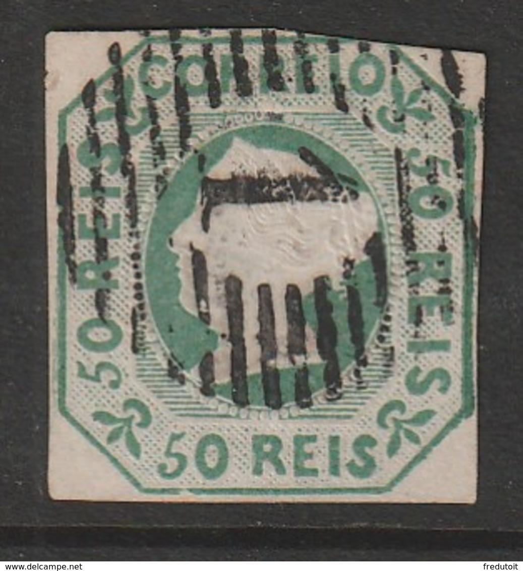 PORTUGAL - N° 3  Obl  (1853) Dona Maria II - 50r Vert - 1853 : D.Maria