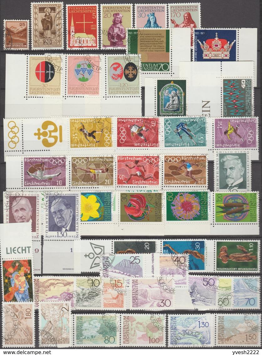 Liechtenstein. Petit Lot, 20 Années Complètes Oblitérées. 1971 à 1990, Y&T 498 à 951 Avec Blocs Et Feuillets. Cote 746 € - Liechtenstein