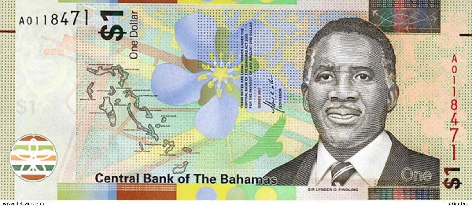 BAHAMAS P. 77 1 D 2017 UNC - Bahamas