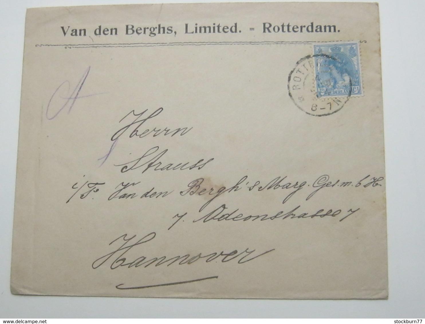 NEDERLANDE   , Firmenlochung , Perfin , Brieven  Rotterdam 1904 - Periode 1891-1948 (Wilhelmina)