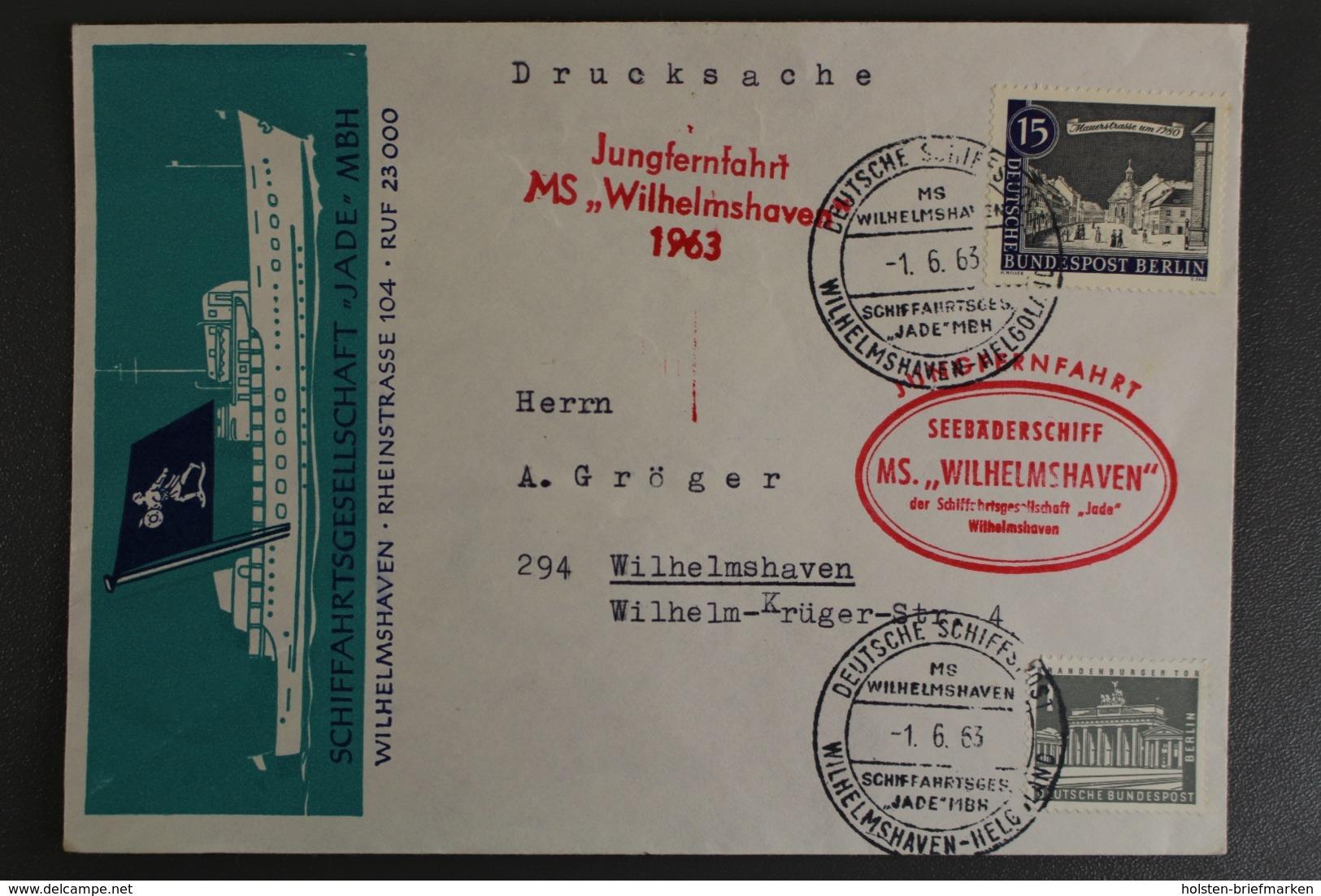 Wilhelmshaven, Jungfernfahrt MS Wilhelmshaven 1963, Schiffspost - Unclassified