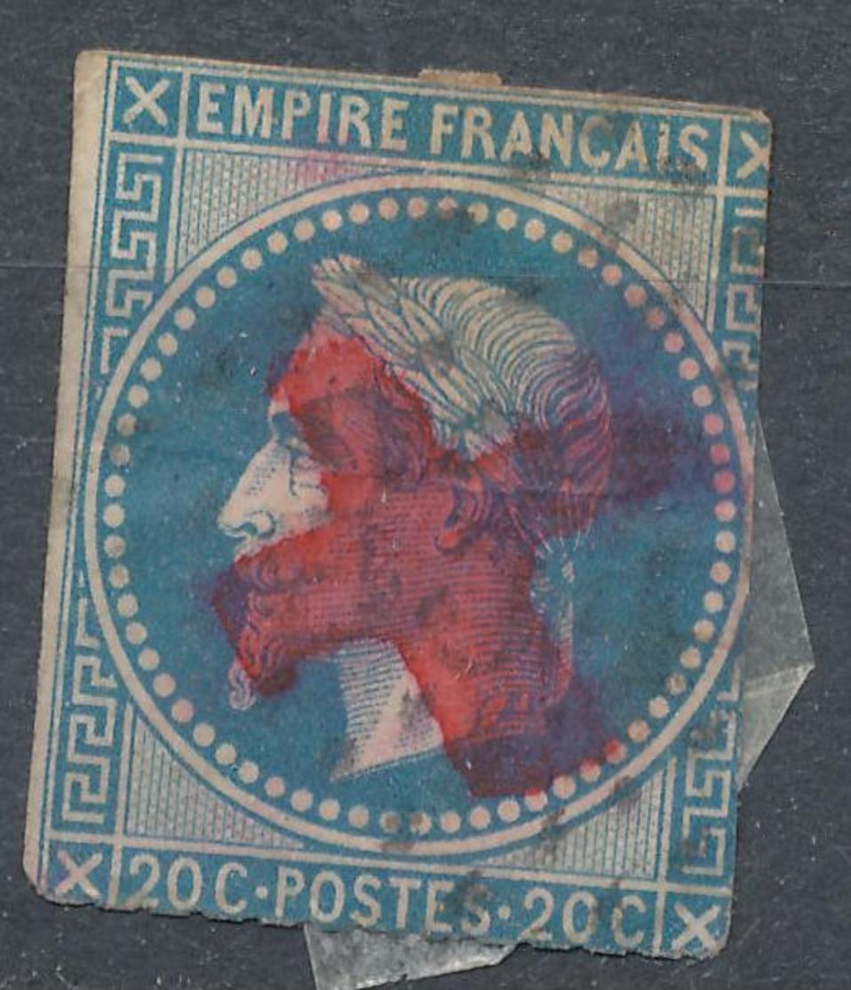 N°29 CACHET CROIX ROUGE - 1863-1870 Napoléon III Lauré