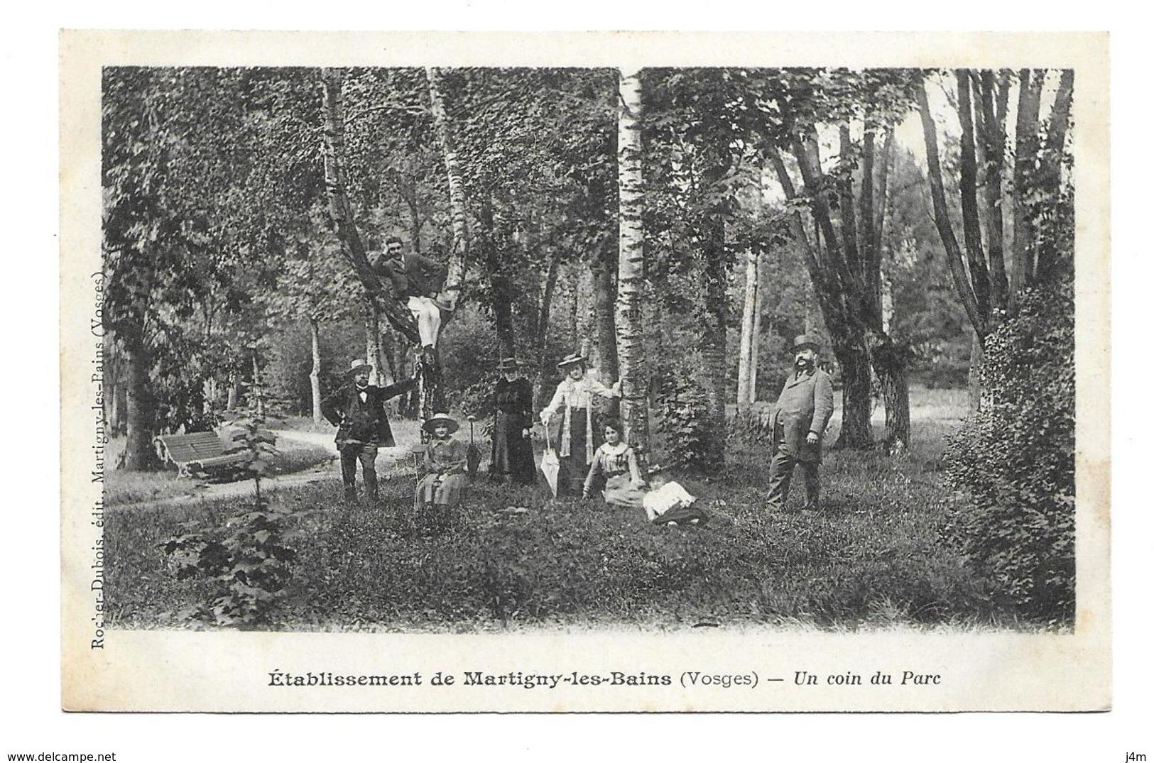 88/ VOSGES...Etablissement De MARTIGNY Les BAINS. Un Coin Du Parc - Autres Communes