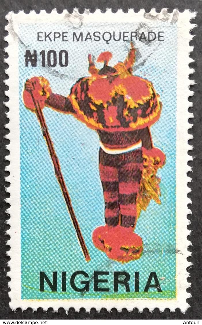 Nigeria  1990 Ekpe Masquerade USED - Nigeria (1961-...)