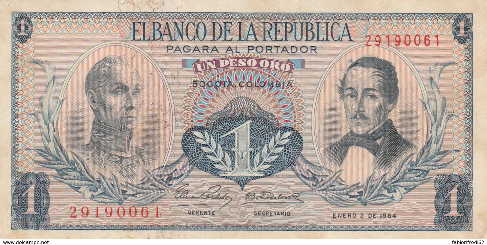 BANCONOTA COLOMBIA 1964 Q-UNC (LY548 - Colombie