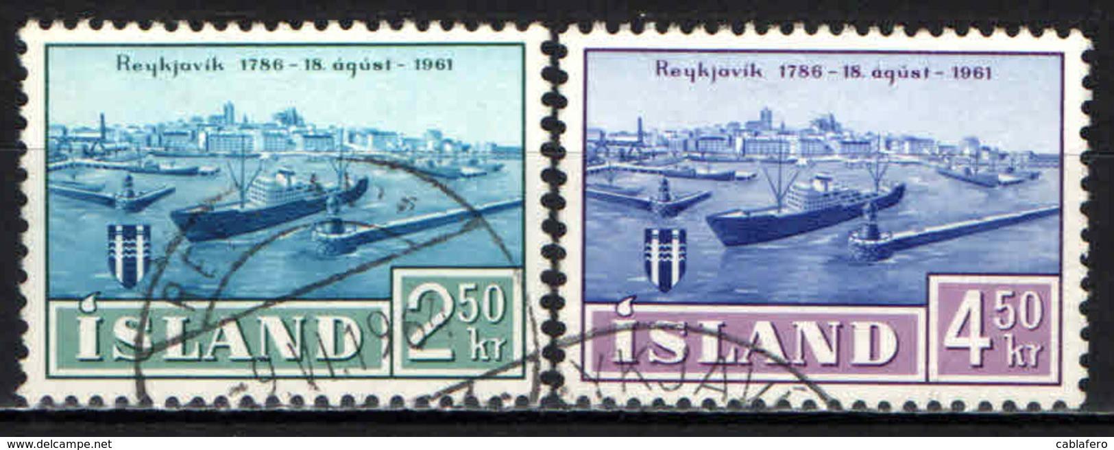 ISLANDA - 1961 - VEDUTE DELLA CITTA' DI REYKJAVIK - USATI - 1944-... Republik