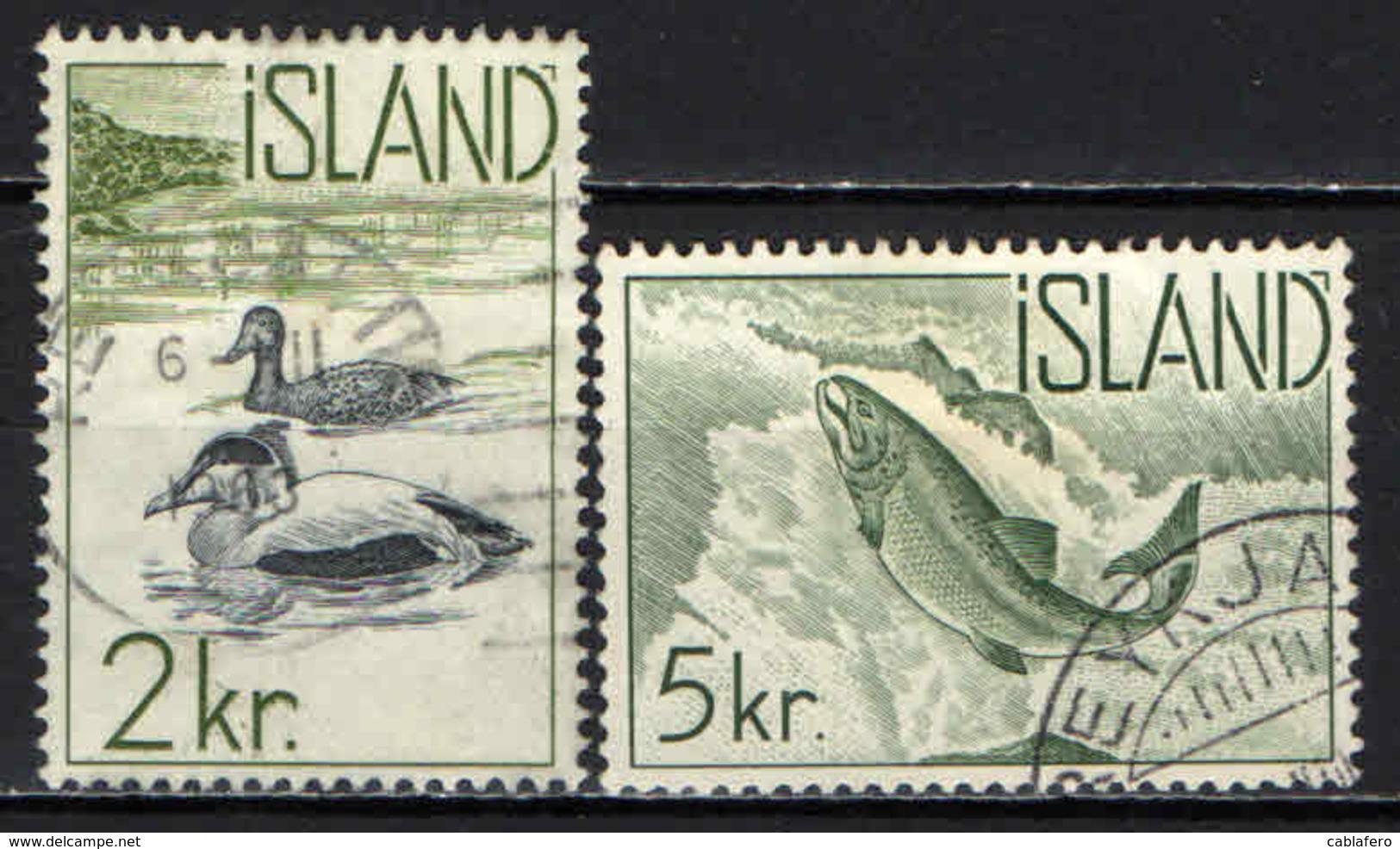 ISLANDA - 1959 - PESCI - FISHES - USATI - 1944-... Repubblica