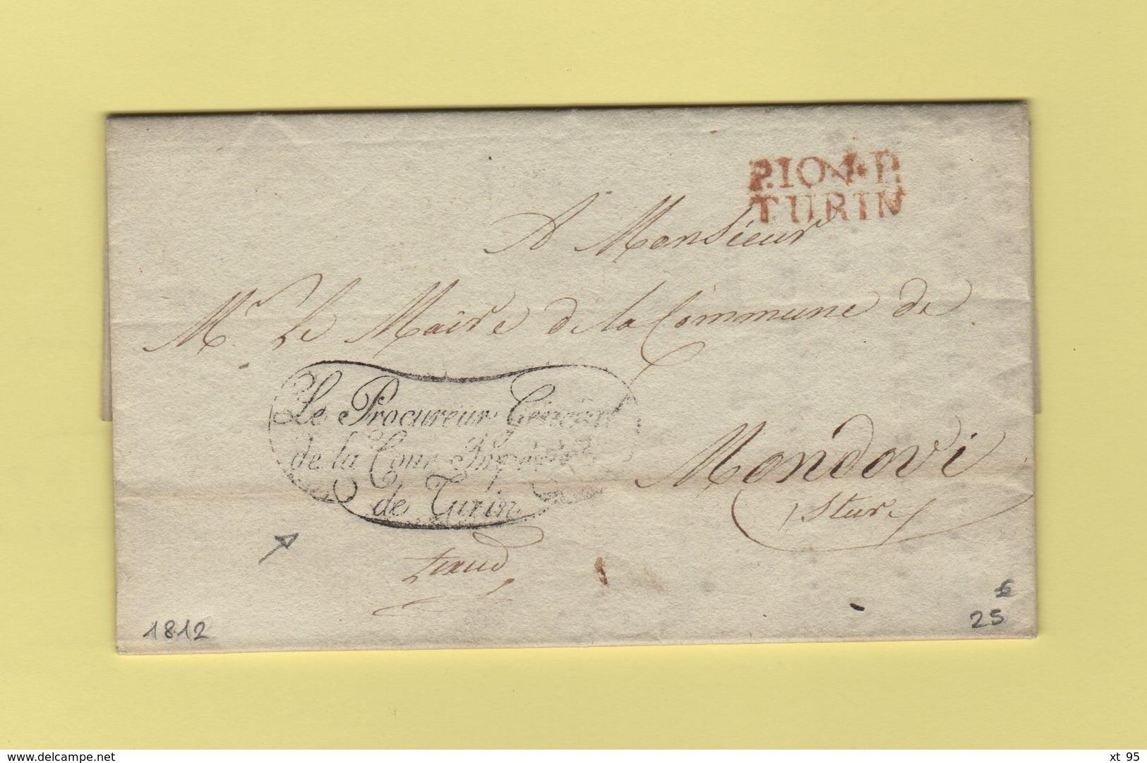 Turin - 104 - 1812 - Le Procureur General De La Cour Imperiale De Turin - Franchise - Departement Conquis Du Pô - 1. ...-1850 Prefilatelia