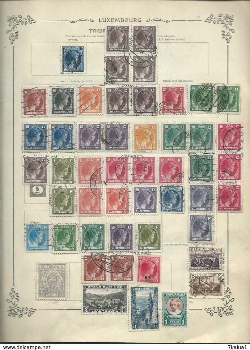 SUISSE, LUXEMBOURG, PAYS BAS, TURQUIE Et Quelques Divers Sur 27 Anciennes Pages D'album. - Sammlungen (im Alben)