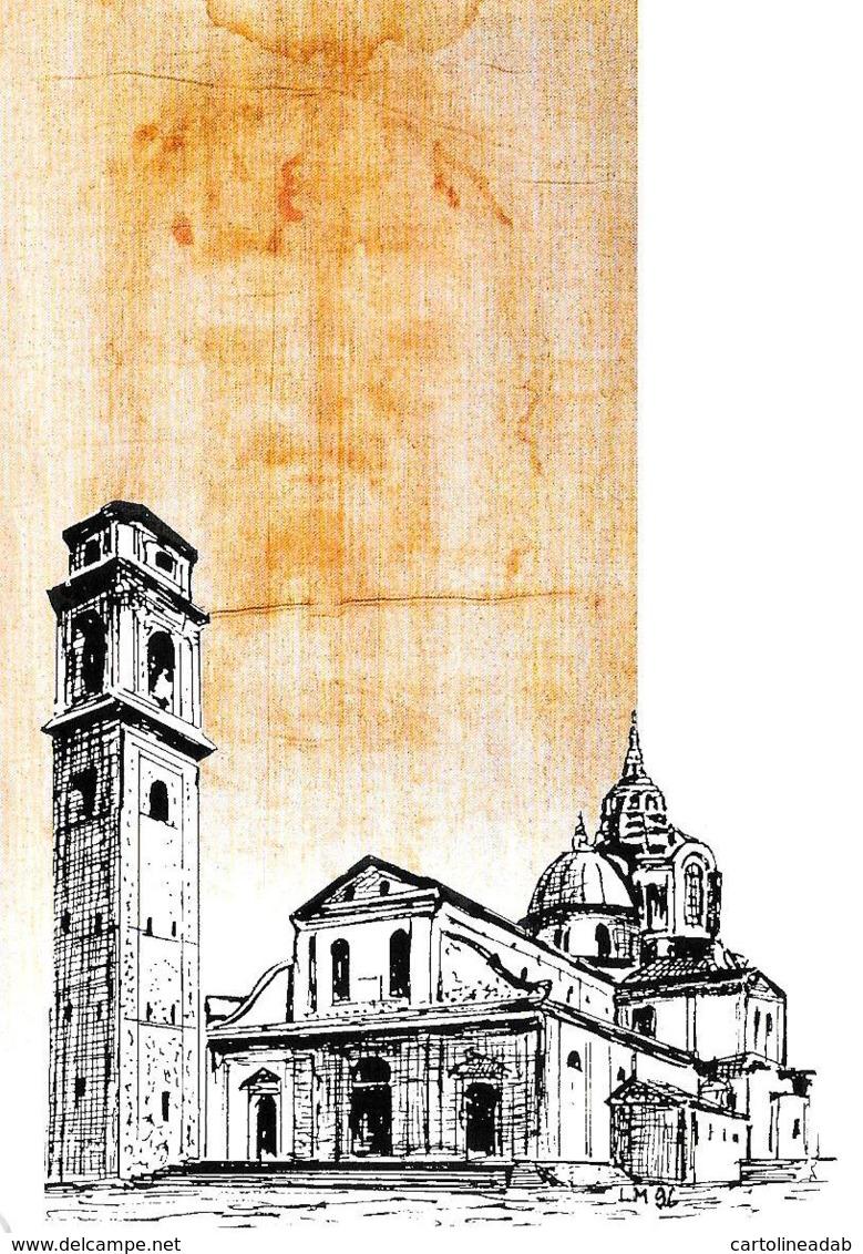 [MD2459] CPM - OSTENSIONE DELLA SINDONE - TORINO 1998 CENTENARIO DUOMO DI TORINO CON ANNULLO 18.4.98 - Non Viaggiata - Cristianesimo