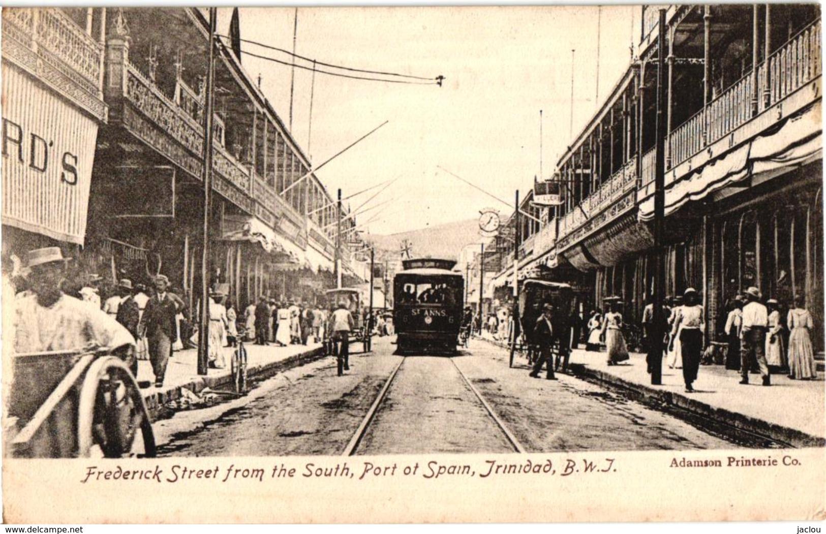 FREDERICK STREET THE SOUTH ,PORT OF SPAIN TRINIDAD ,B.W.I,SUPER BEAU PLAN    REF 58357C - Trinidad