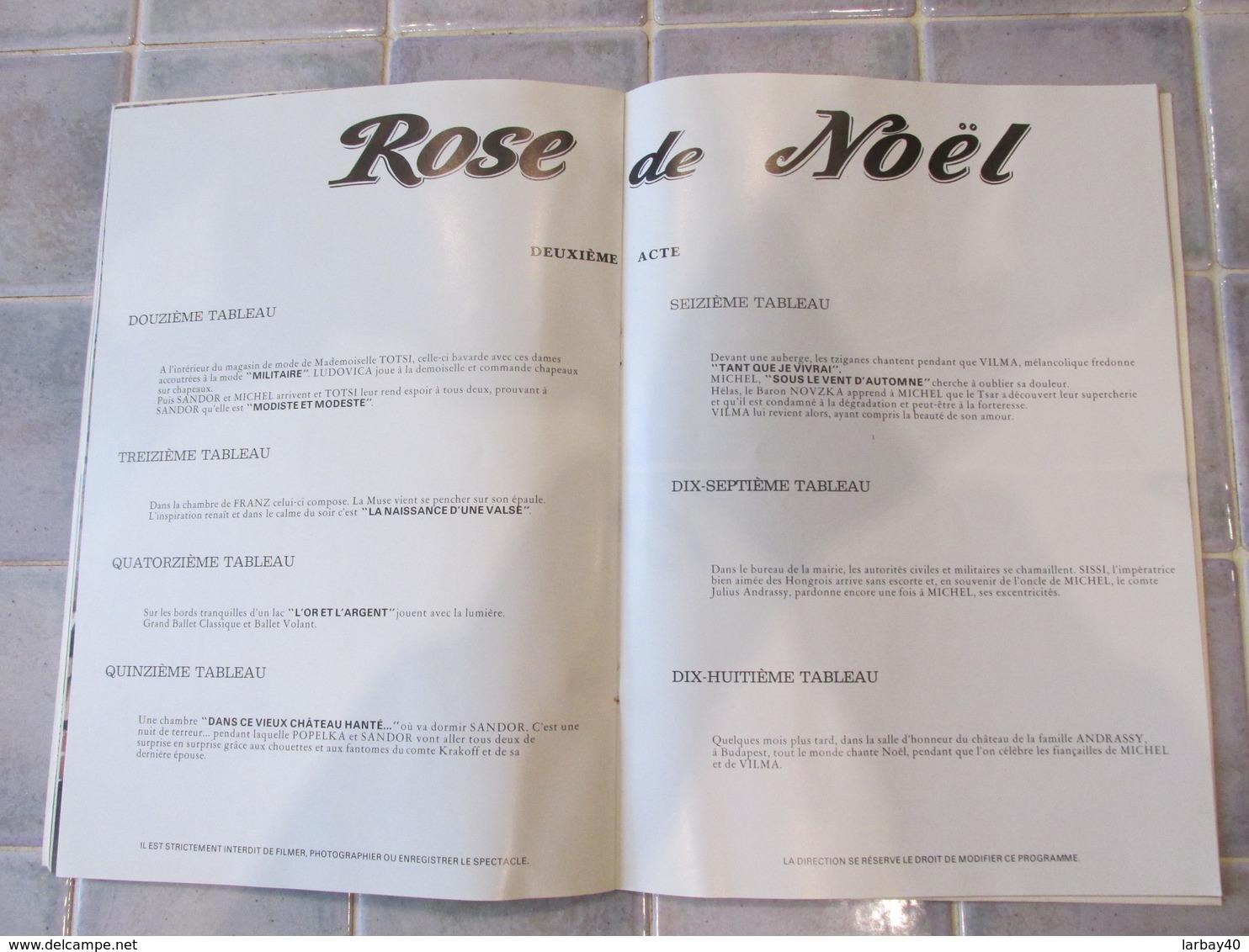 Programme Theatre  Chatelet - Rose De Noel Jean Bauchet - Programmes