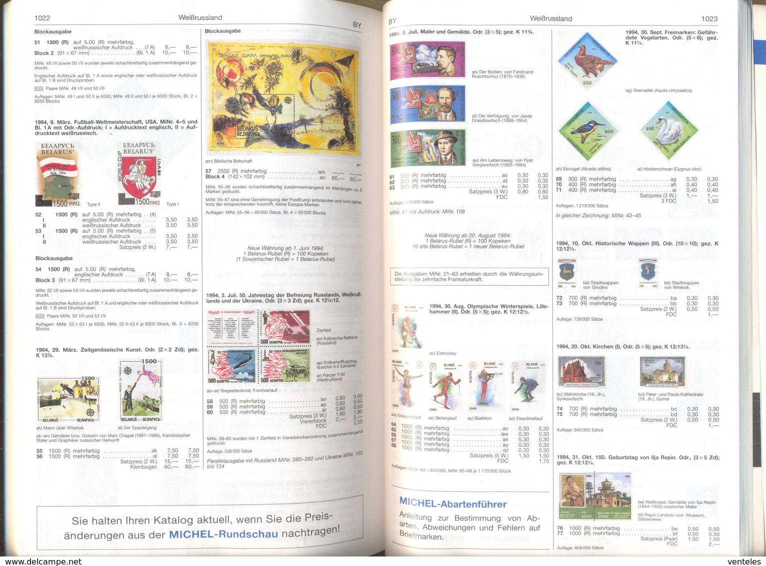 Belarus 09.03.1994 Mi # 52-53 I-II Bl 3 + Bl 3 ENGLISH + IMPERF 1994 FIFA World Cup MNH OG - 1994 – États-Unis