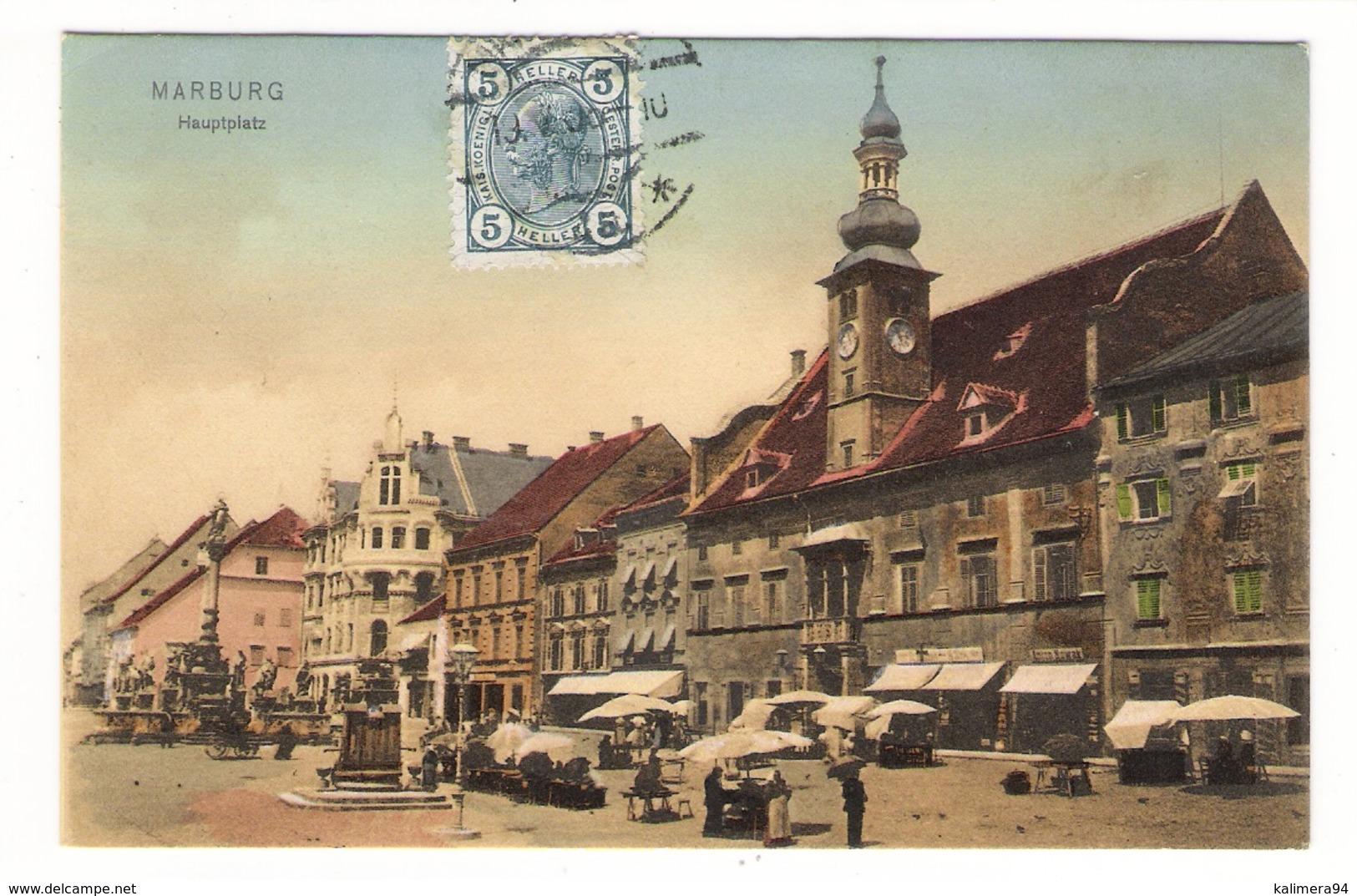 SLOVENIE  /  MARBURG - A. - DRAU  ( MARIBOR ) /  HAUPTPLATZER  ( Jour De Marché ) - Slovénie